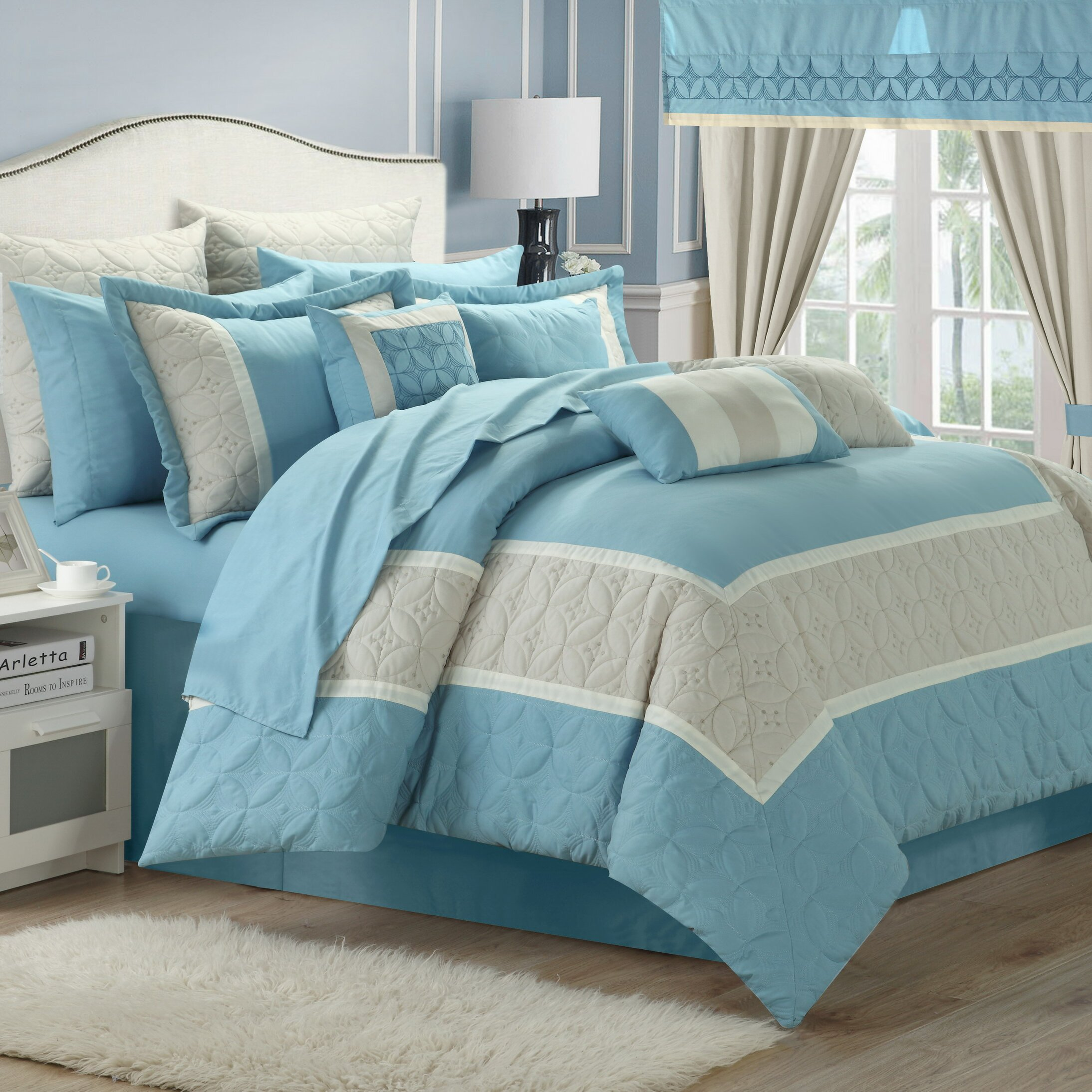 Chic Home Aida 24 Piece Queen Comforter Set & Reviews ...