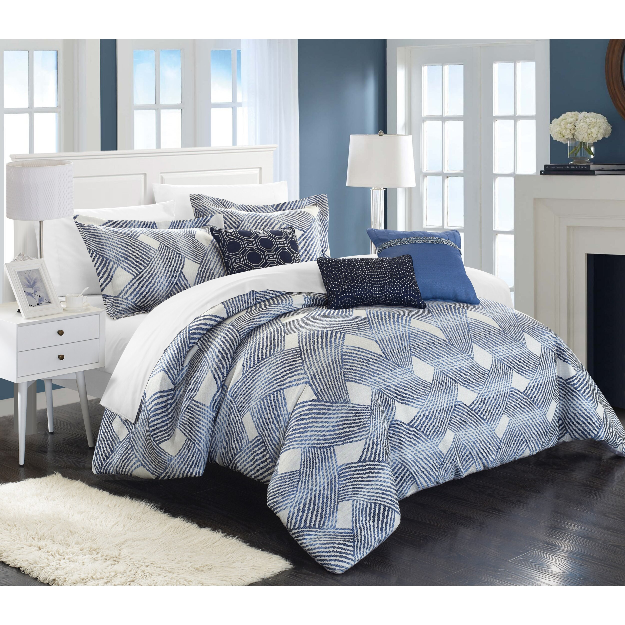 Chic home fiorella 6 piece comforter set reviews wayfair for Home designs comforter