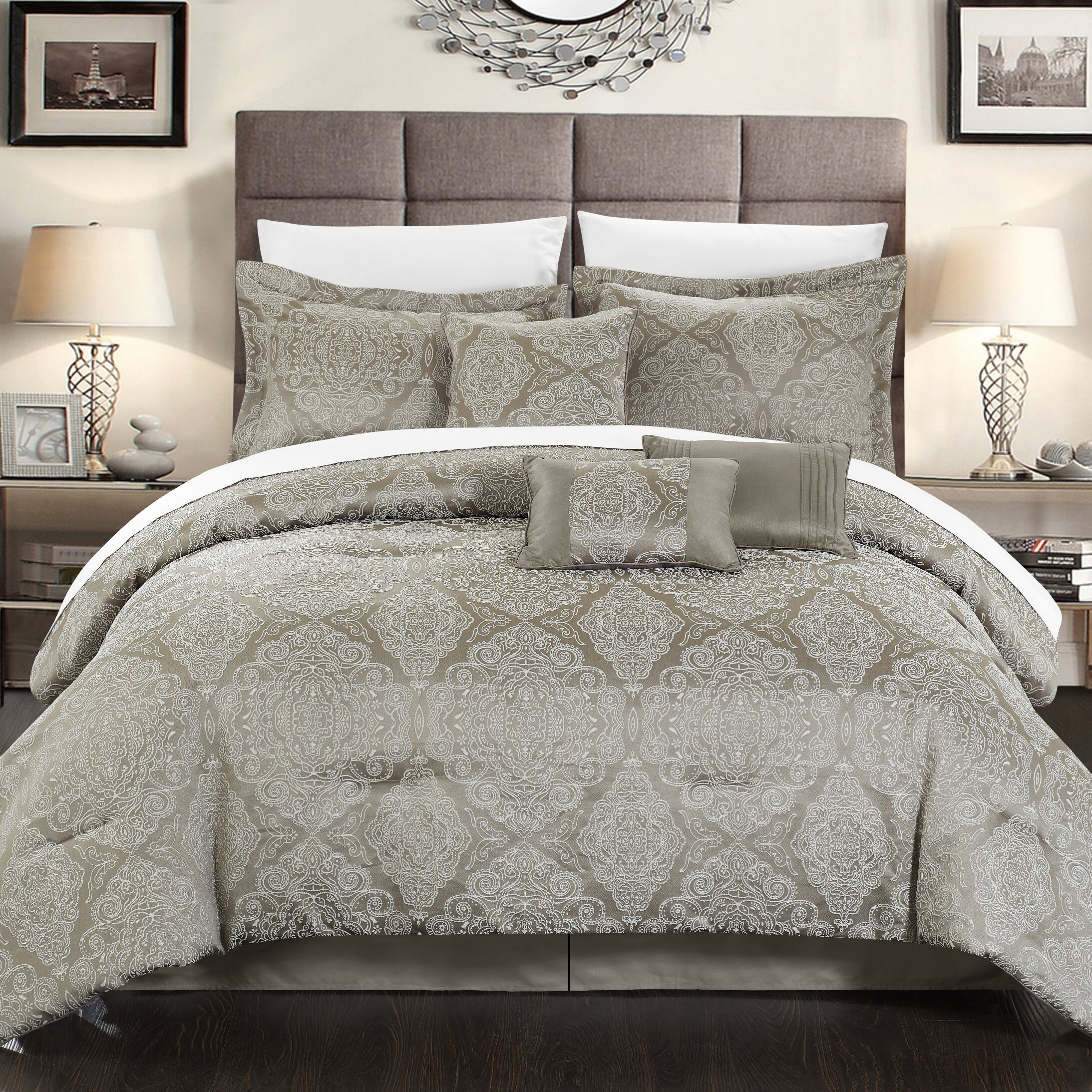 chic home jessica 7 piece comforter set reviews wayfair