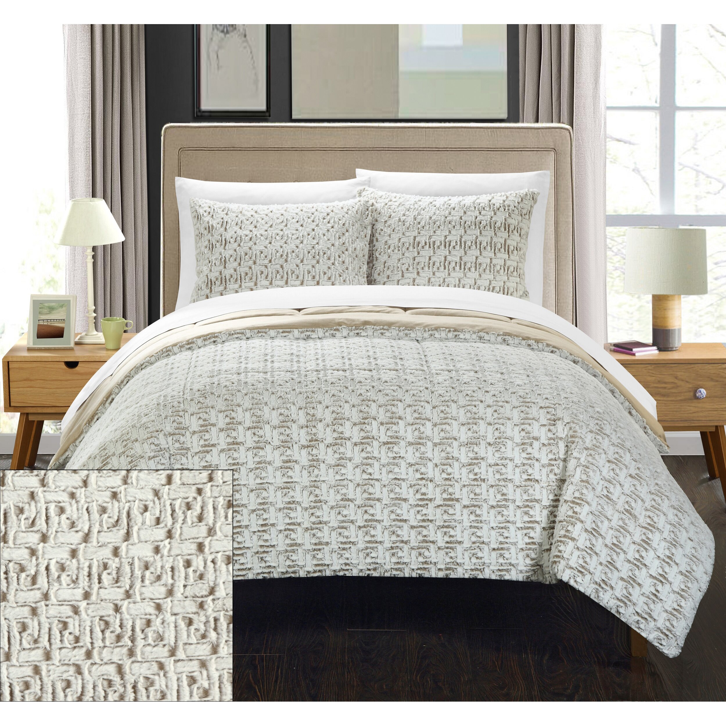Chic Home Greece 7 Piece Queen Comforter Set Wayfair