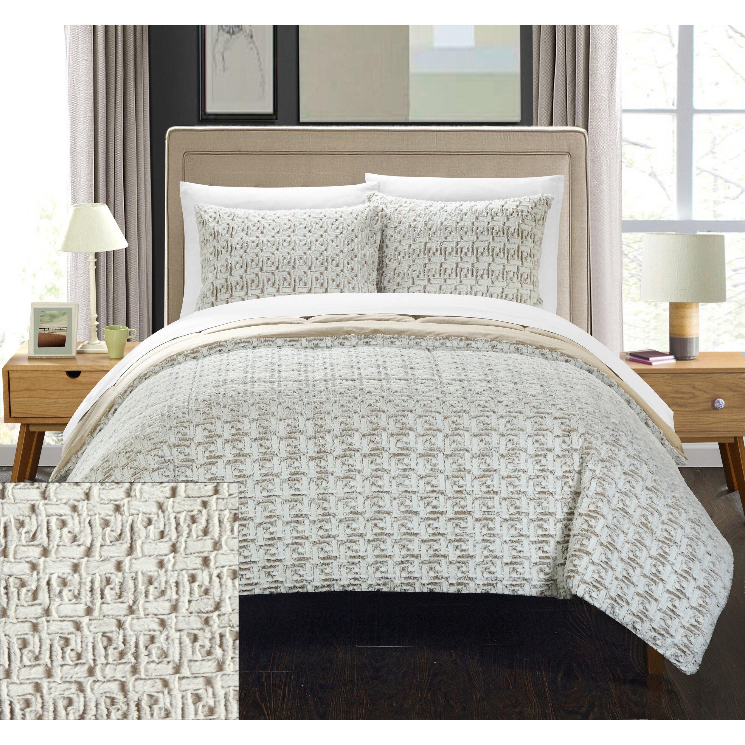 chic home greece 7 piece queen comforter set wayfair. Black Bedroom Furniture Sets. Home Design Ideas