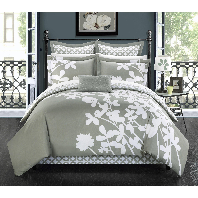 chic home iris 7 piece reversible comforter set reviews wayfair. Black Bedroom Furniture Sets. Home Design Ideas