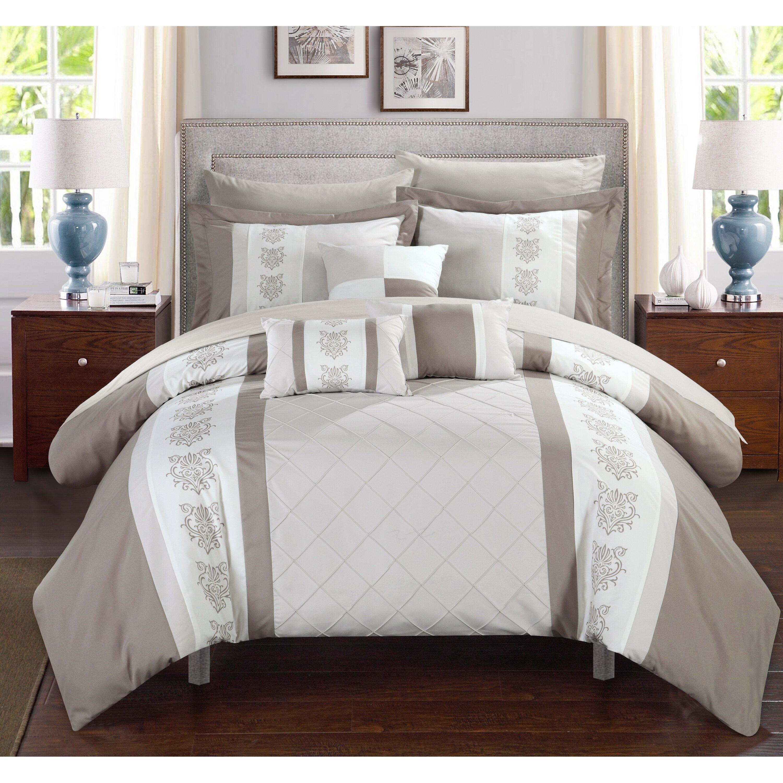 Chic Home Clayton 10 Piece Comforter Set - redsheetsets.com