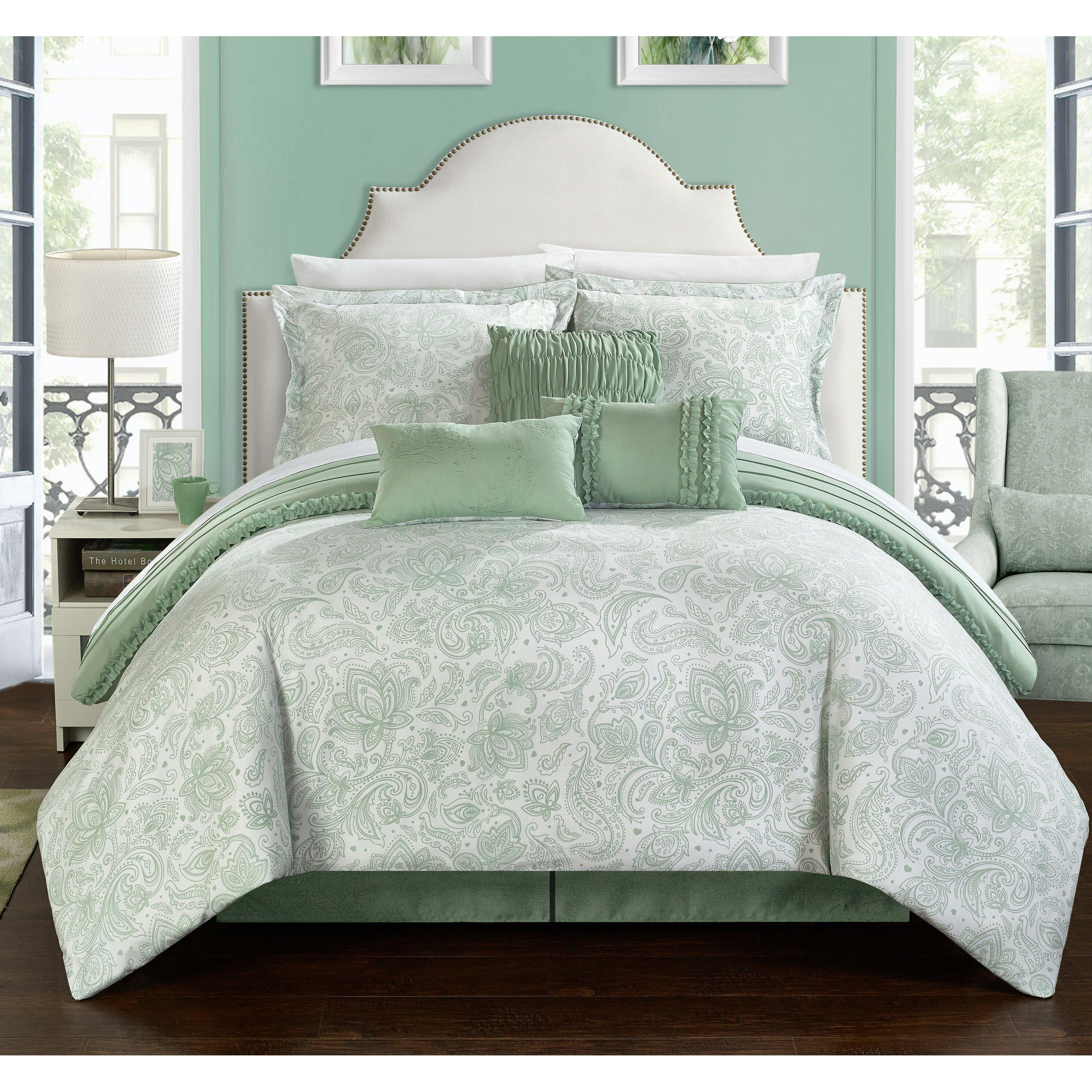 Chic home elle reversible comforter set reviews wayfair for Elle decoration bed linen