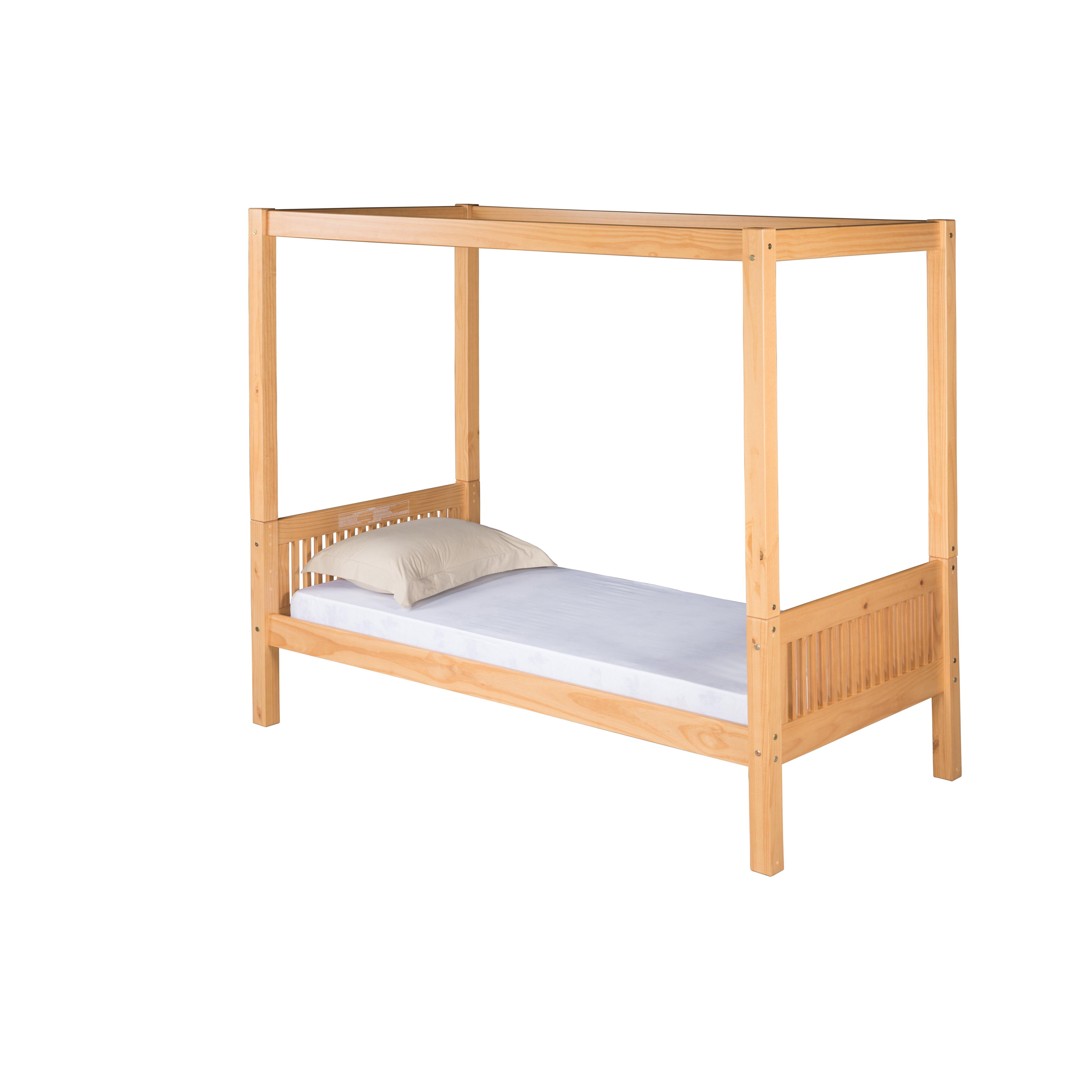 camaflexi full double canopy bed wayfair