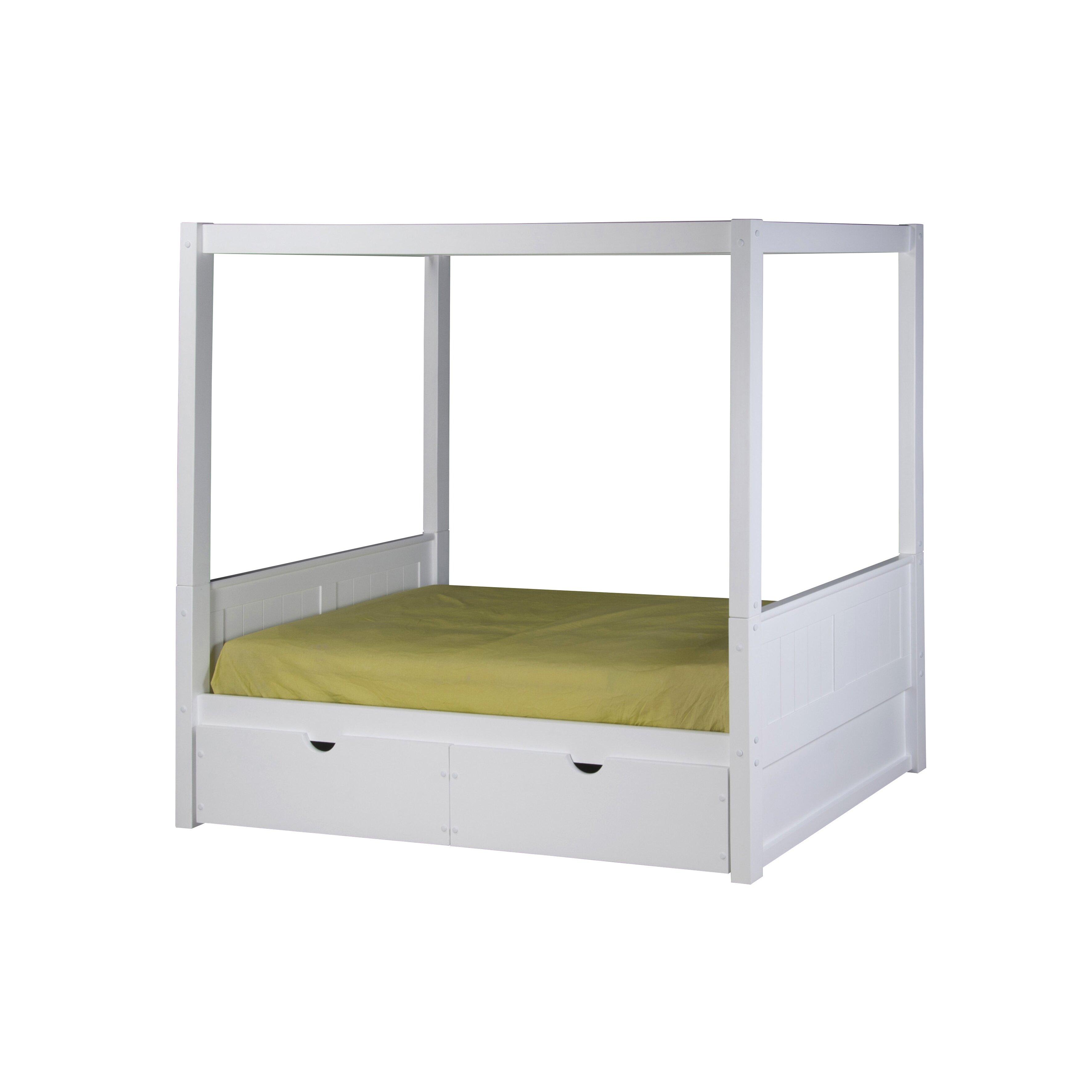 Camaflexi Twin Canopy Bed Reviews Wayfair
