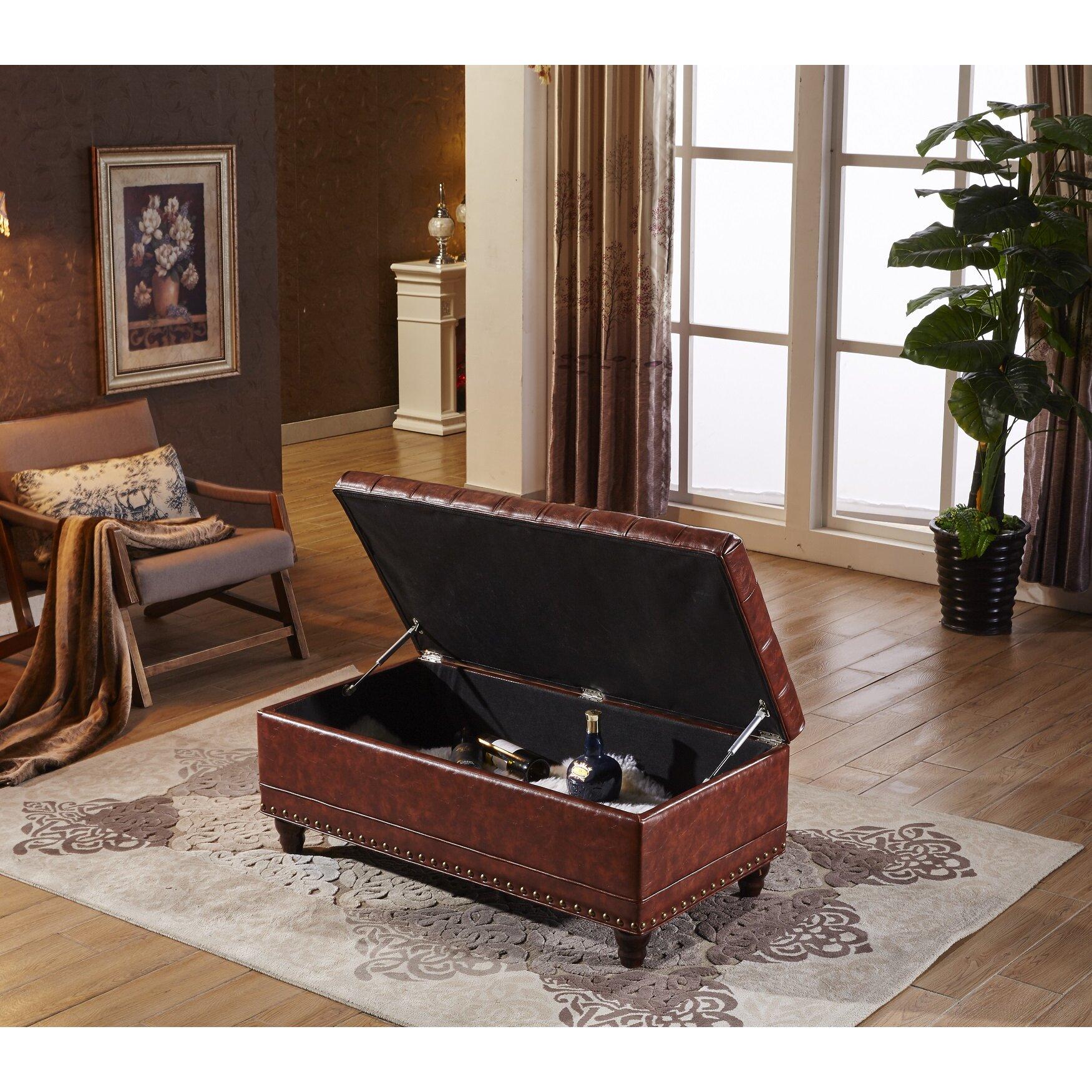 Noya Usa Castilian Upholstered Storage Bedroom Bench: NOYA USA Elegant Wood Storage Bedroom Bench & Reviews