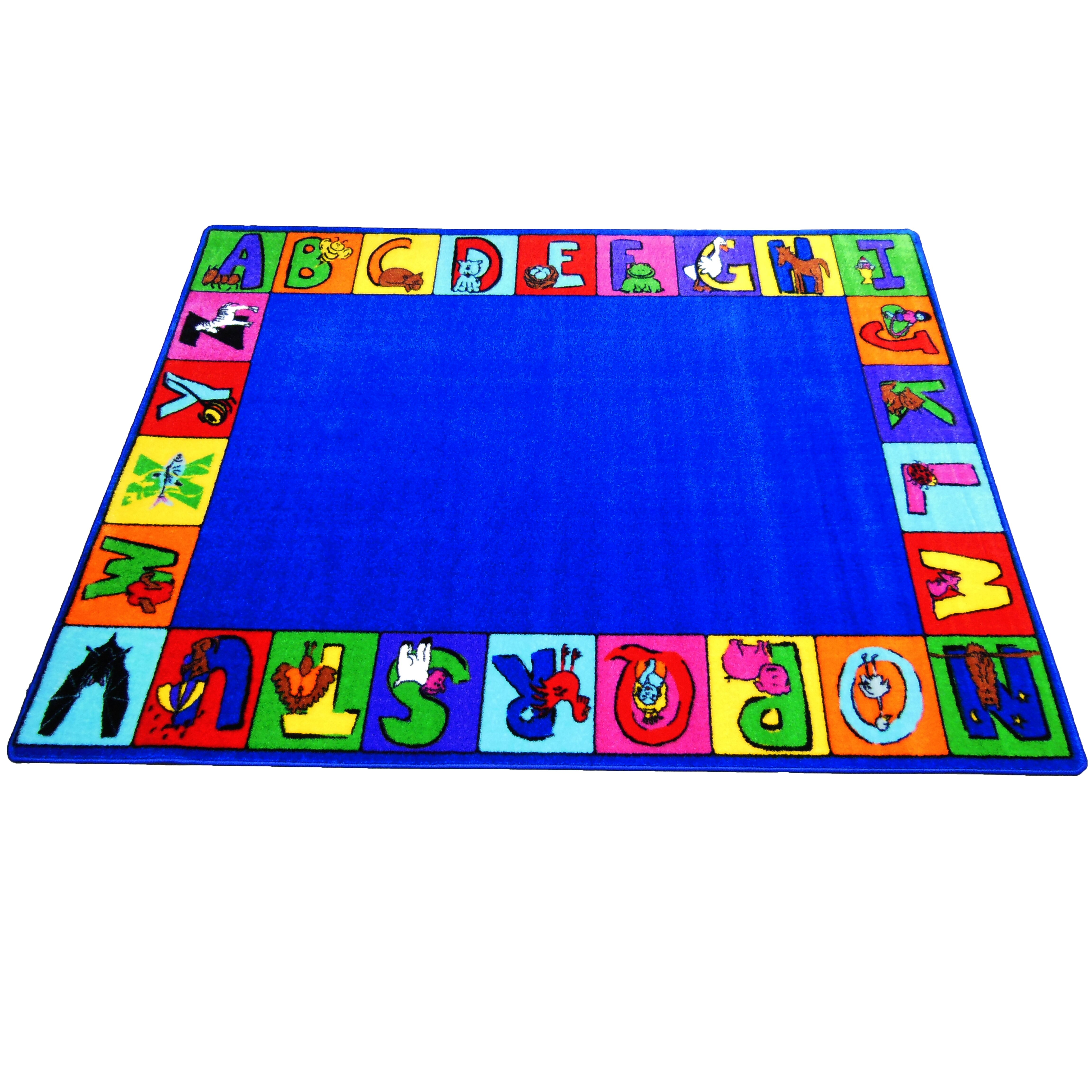 Kids world my abc squares area rug reviews wayfair for Abc carpet outlet sale