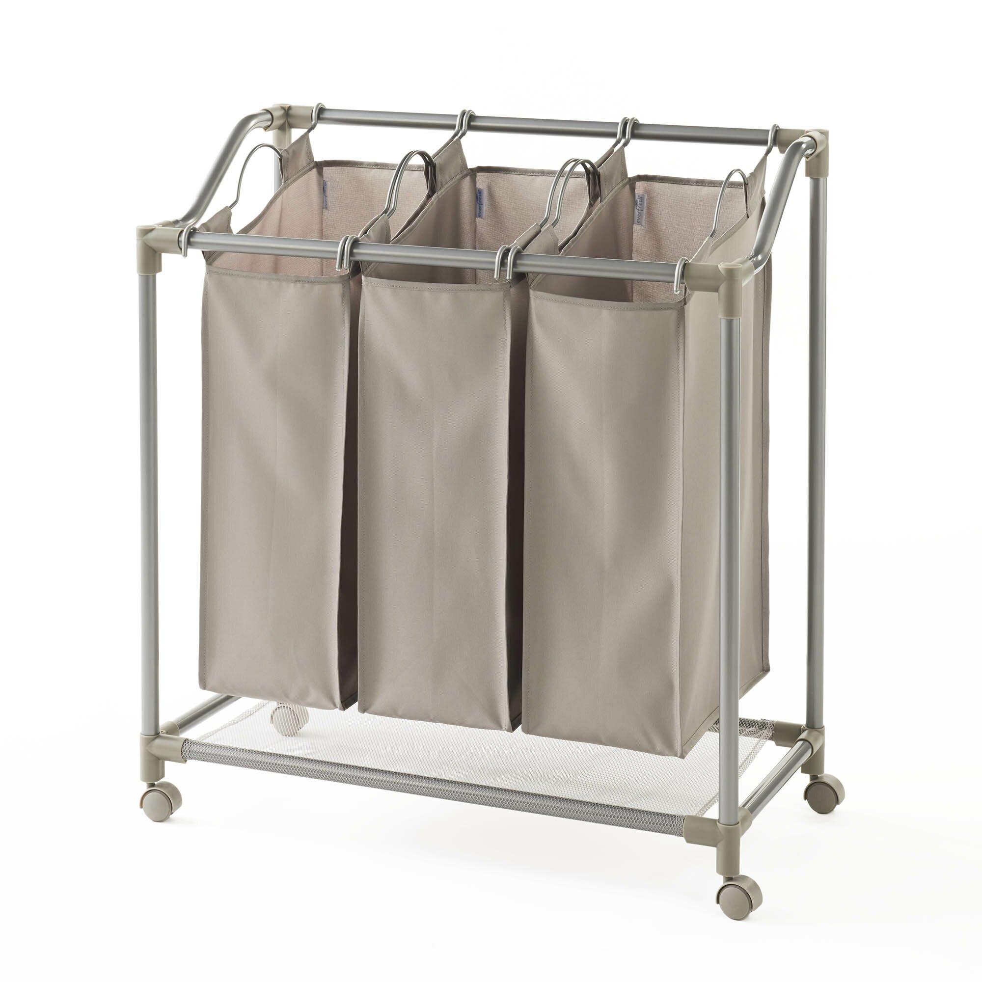 NeatFreak Deluxe Triple Laundry Sorter & Reviews   Wayfair