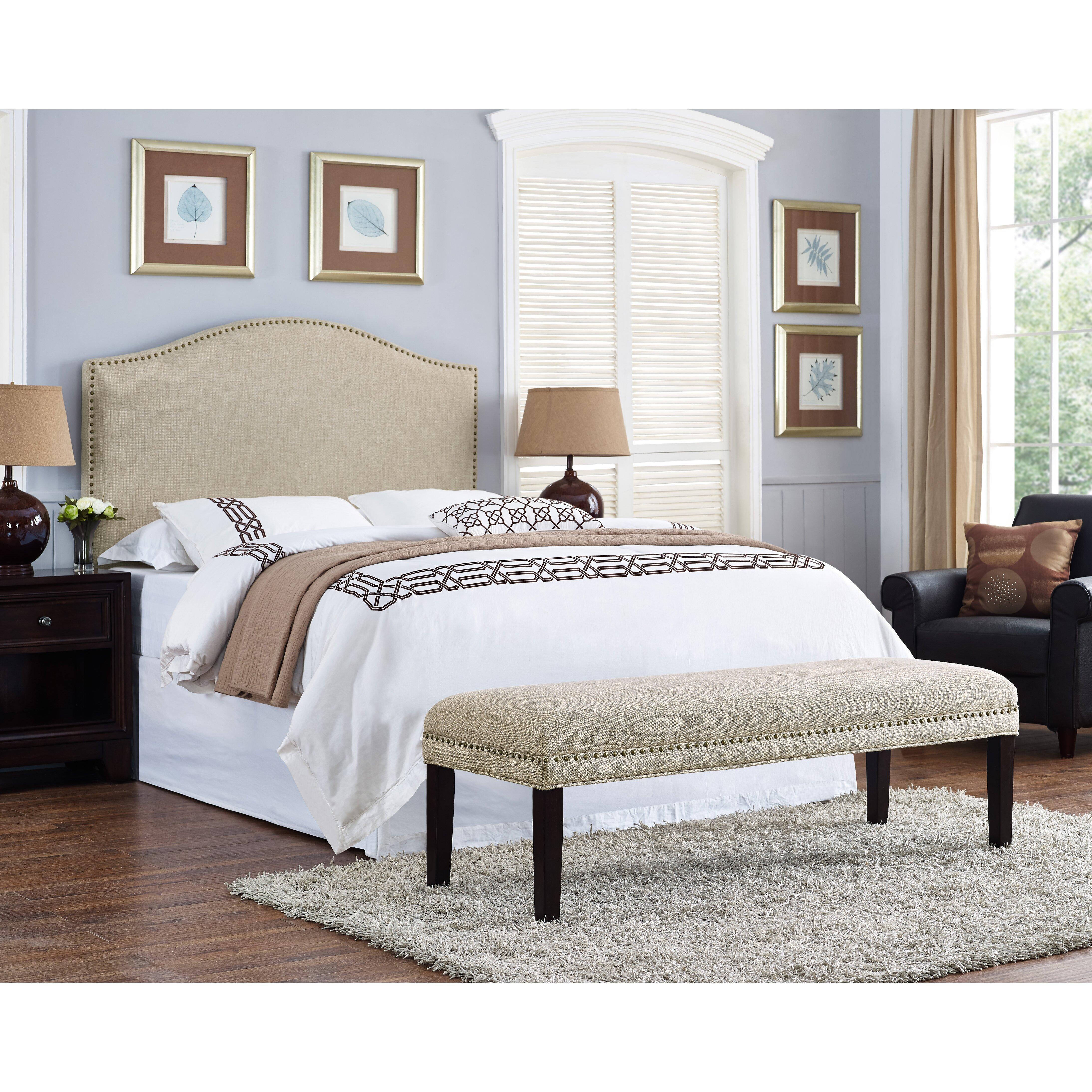 PRI Upholstered Bedroom Bench & Reviews