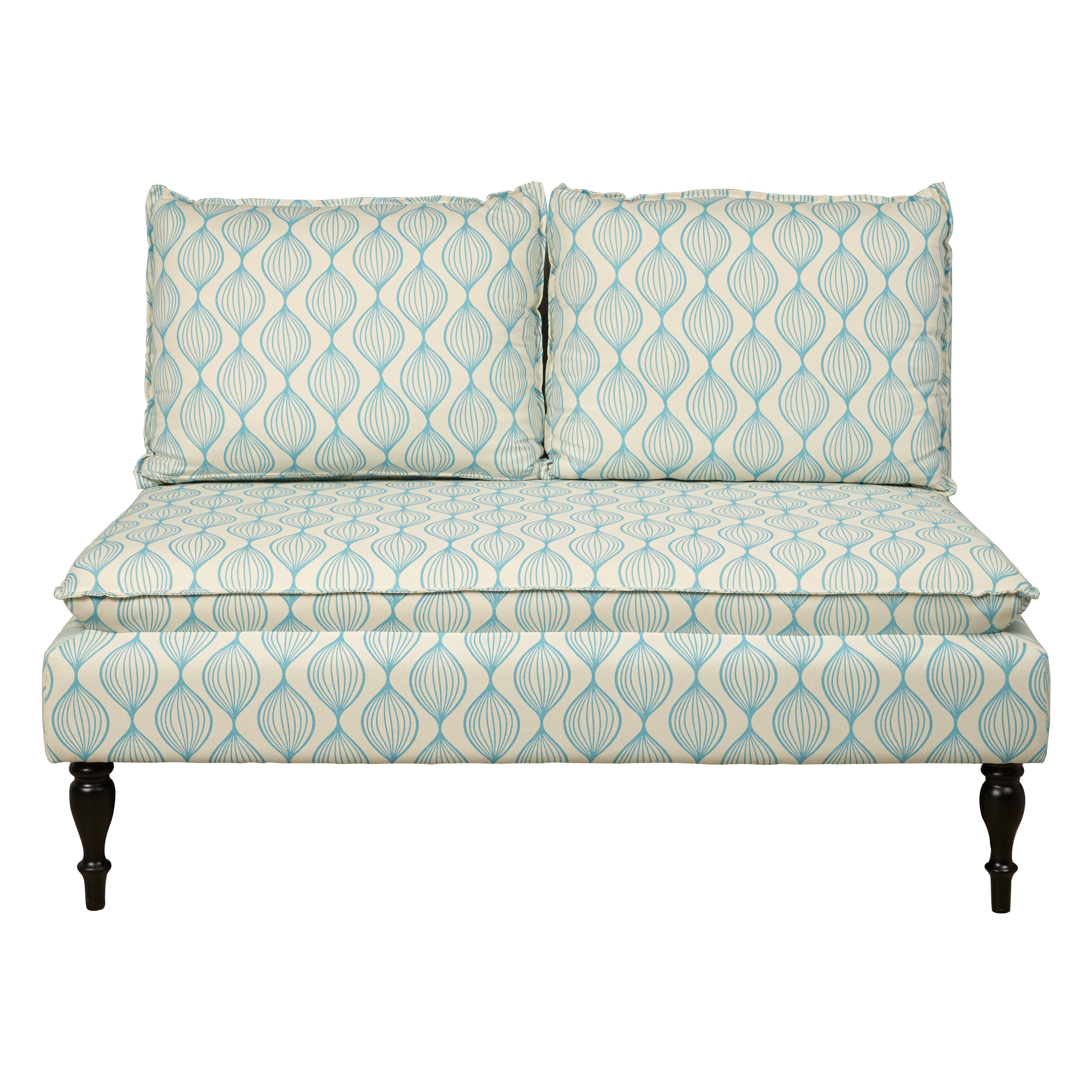 PRI Upholstered Graphic Print Banquette Sofa & Reviews