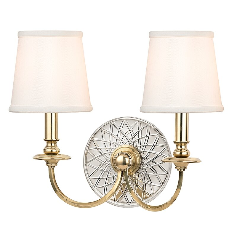 Wayfair Lights: Hudson Valley Lighting Yates 2 Light Wall Sconce