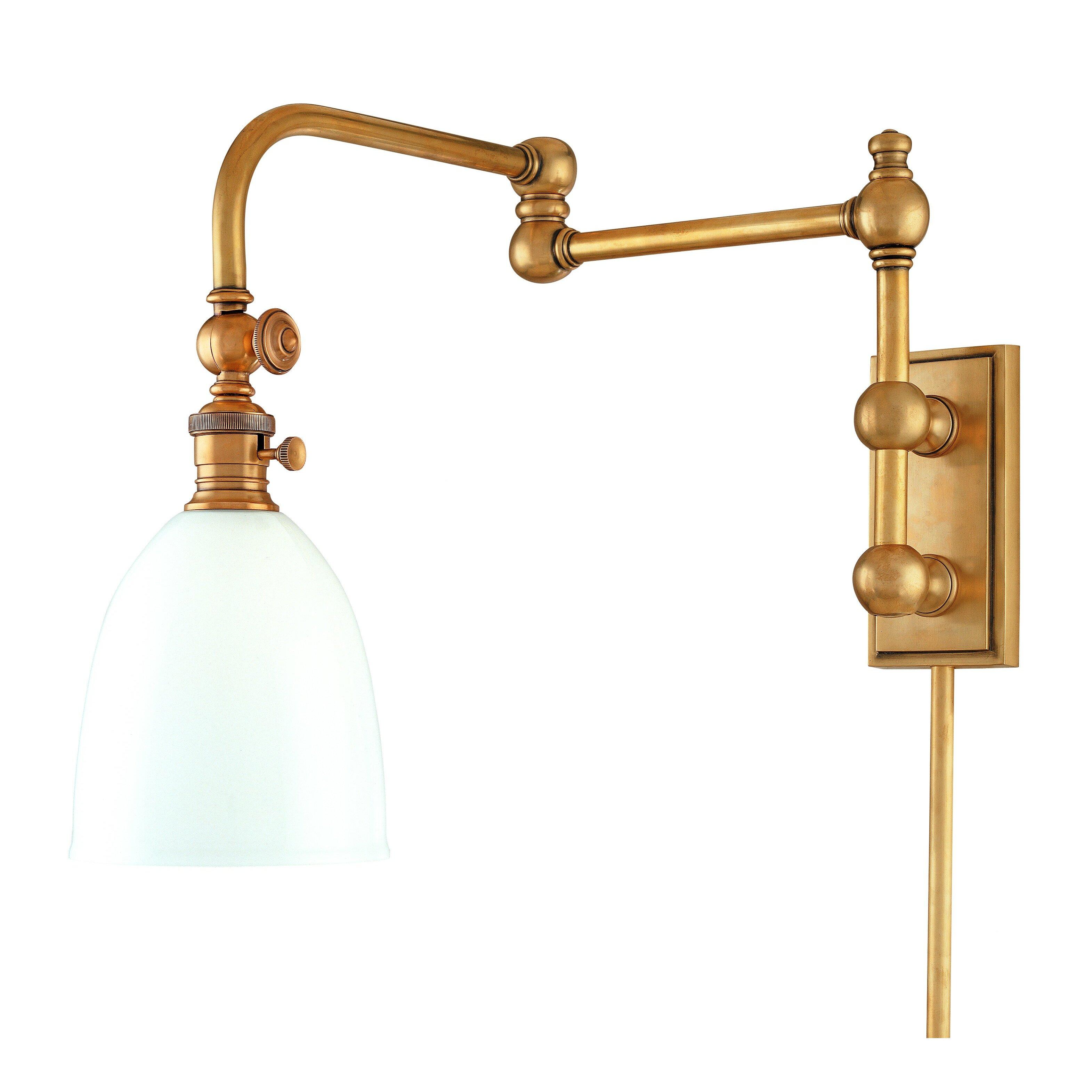 Hudson Valley Lighting Monroe Swing Arm Wall Lamp & Reviews Wayfair