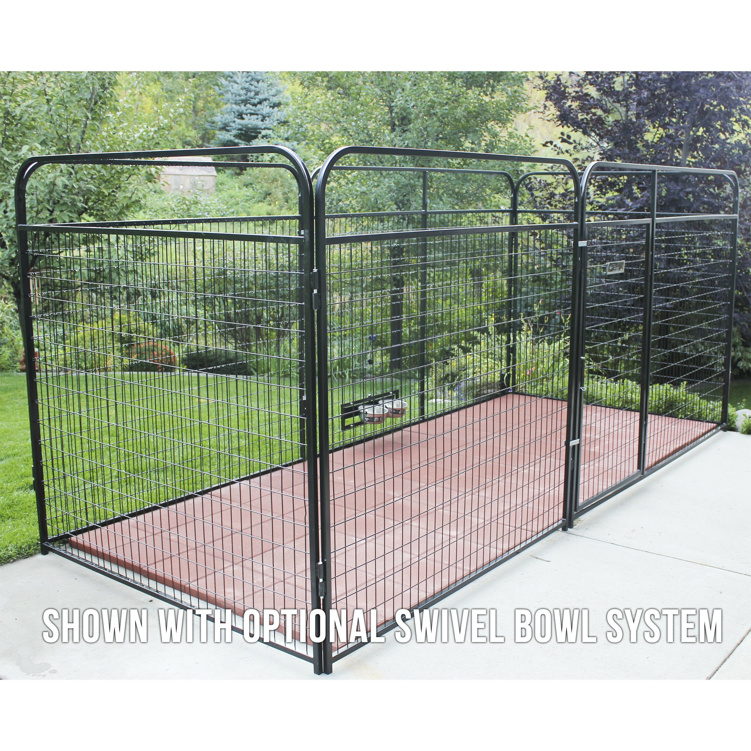 K9 Kennel Basic Welded Wire Steel Yard Kennel & Reviews