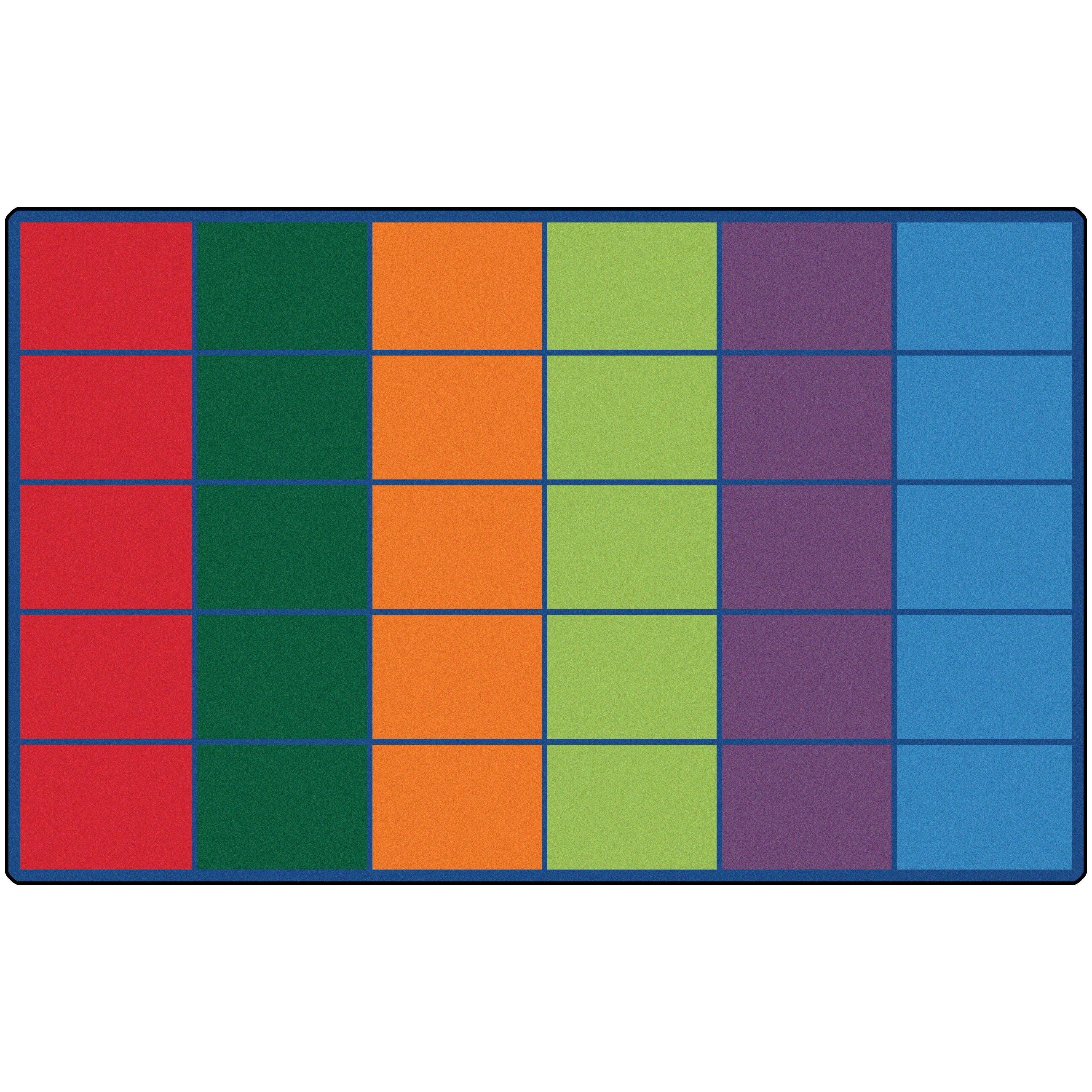 Kids Value Rugs Colorful Rows Seating Area Rug Amp Reviews