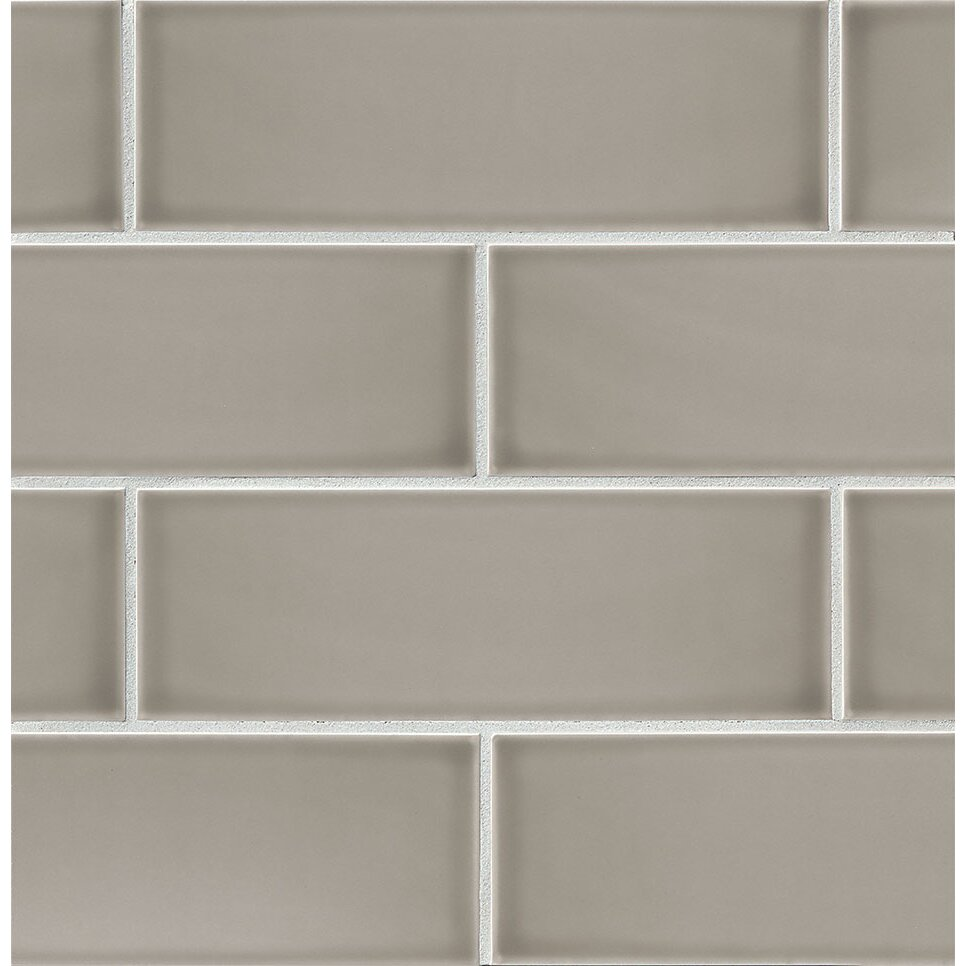 Bedrosians Grace 4 Quot X 12 Quot Ceramic Subway Tile In Grigio