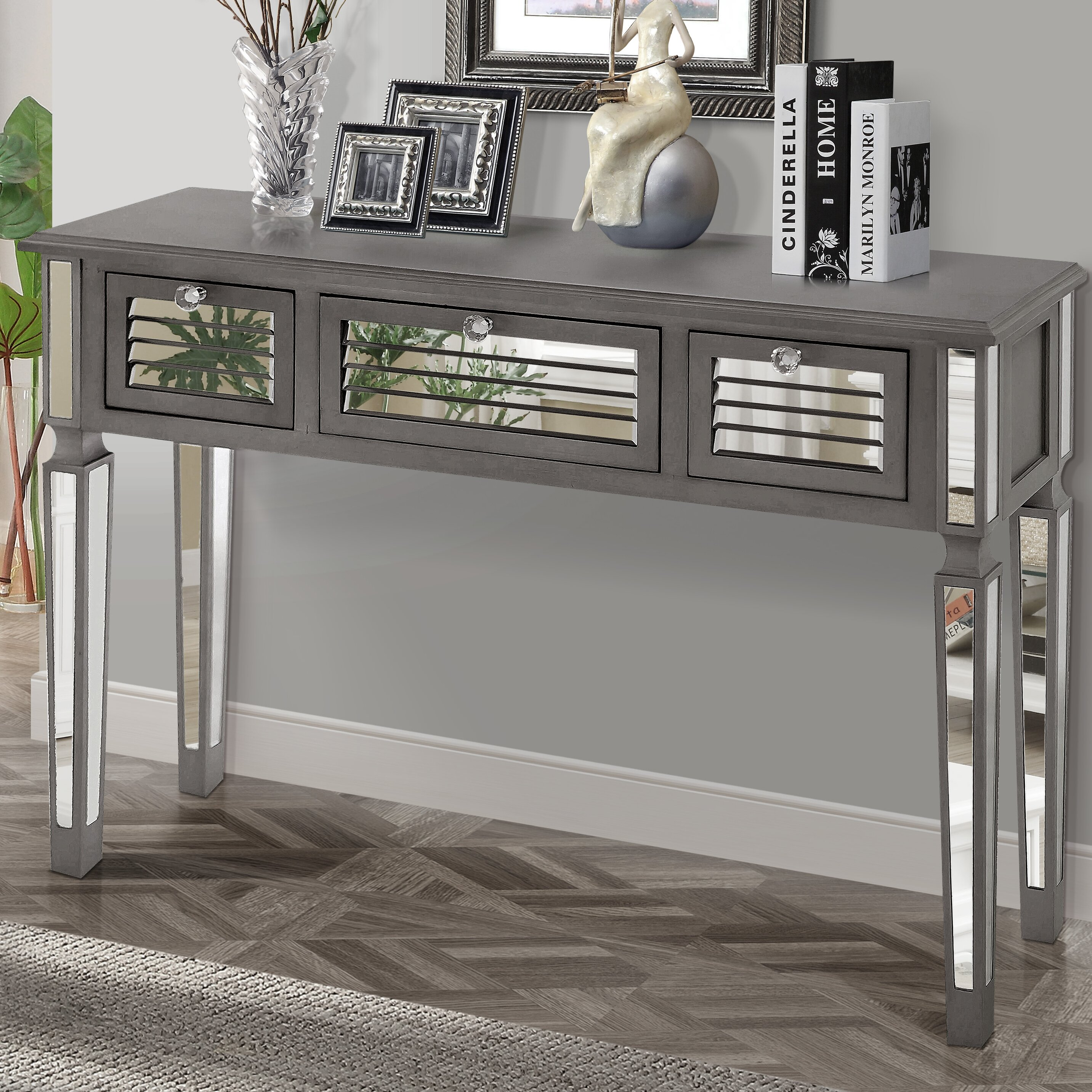 Gallerie Decor Summit Mirrored Console Table Reviews