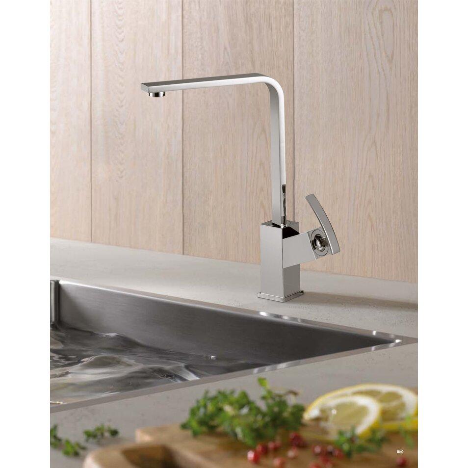 Sumerain Contemporary Modern Single Handle Kitchen Faucet Reviews Wayfair