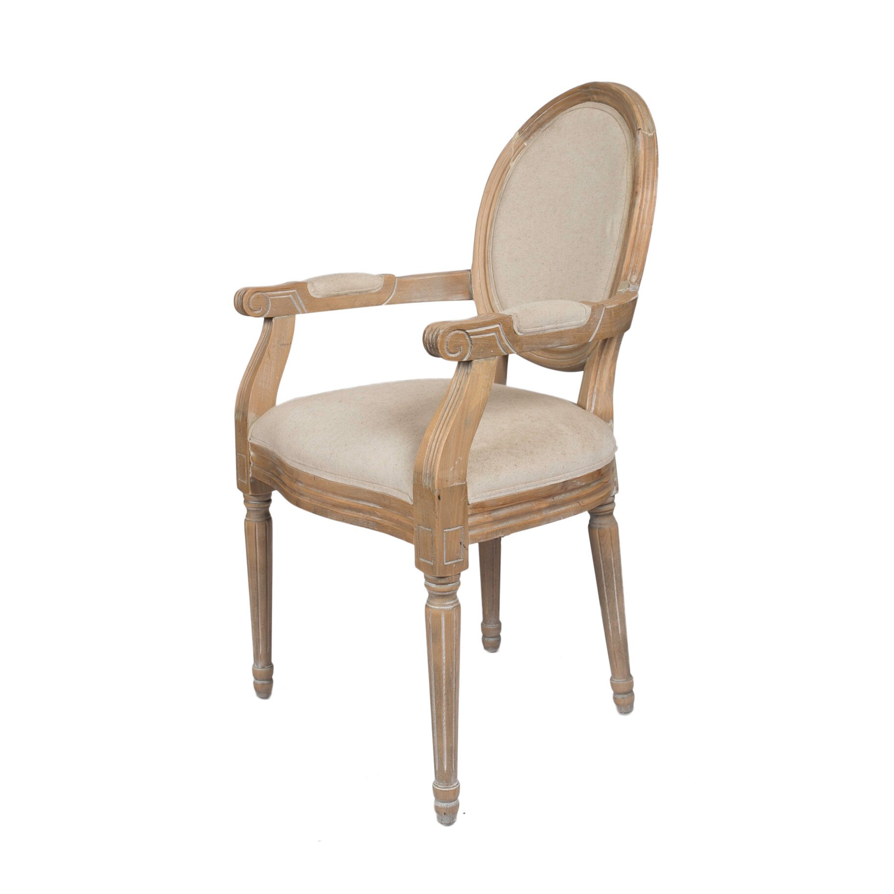 Derry s Louis Round Back Carver Dining Chair & Reviews