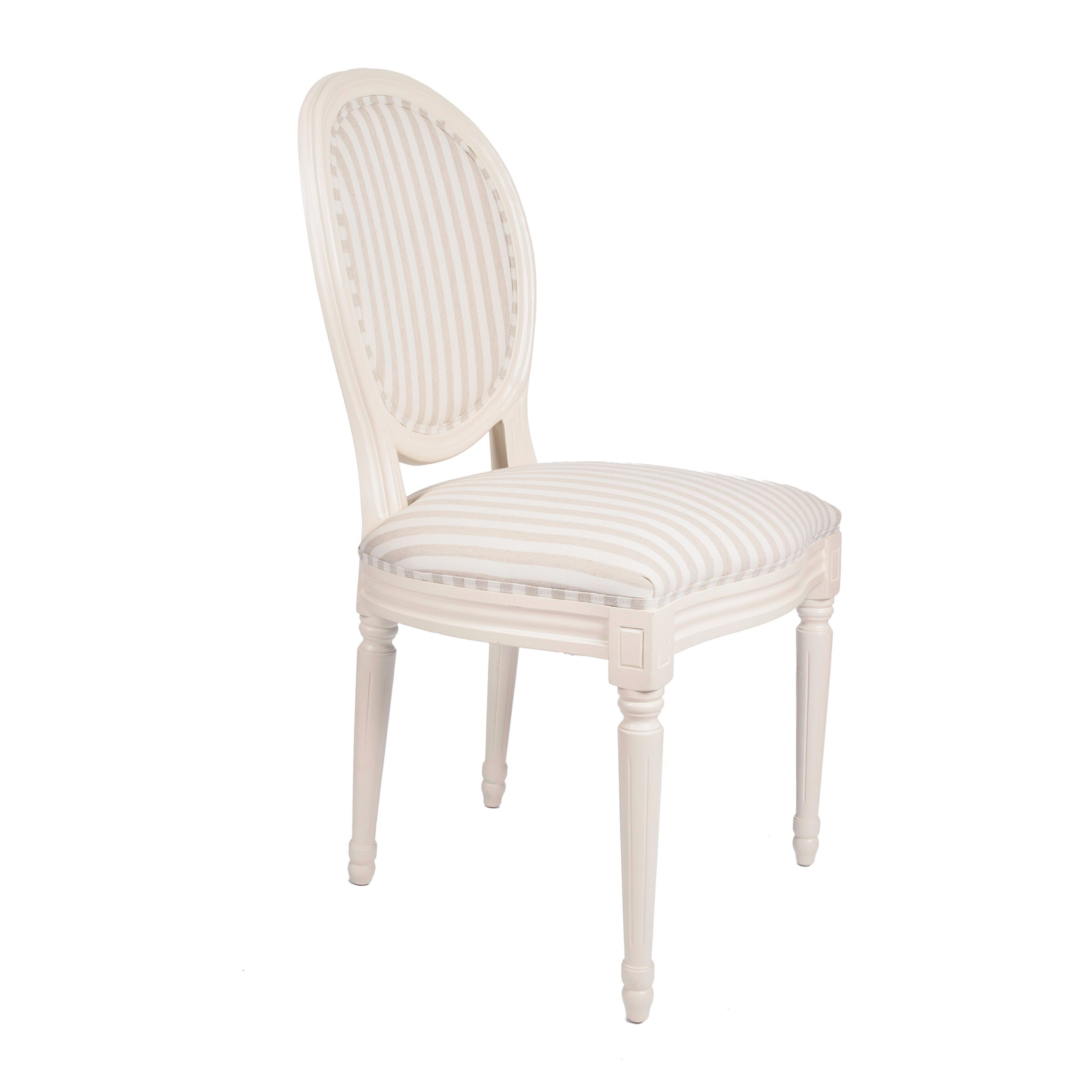 derry 39 s louis round back striped dining chair reviews wayfair uk. Black Bedroom Furniture Sets. Home Design Ideas