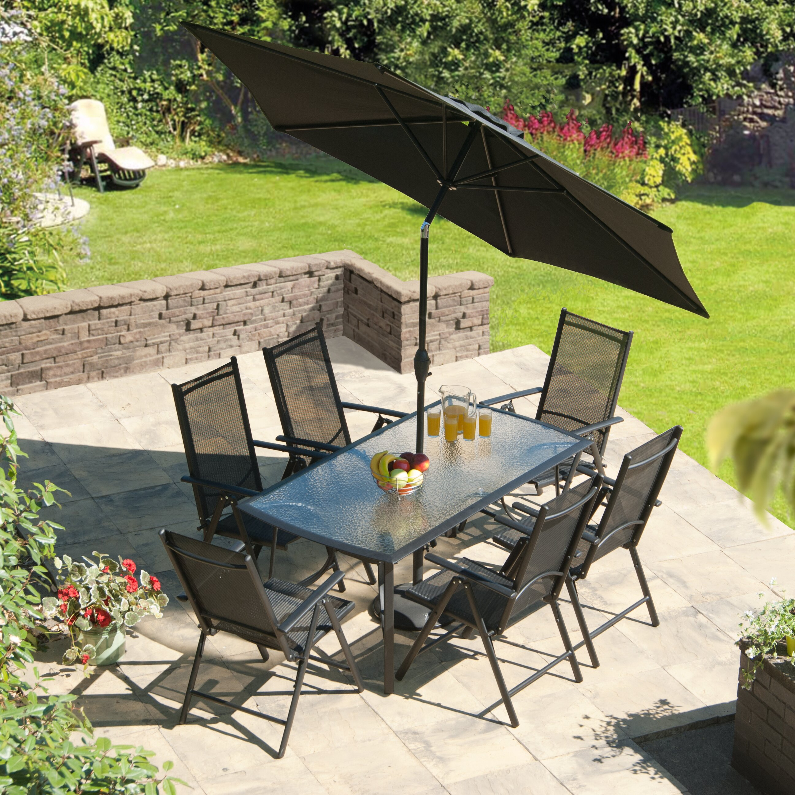 SunTime Outdoor Living Capri 8 Piece Dining Set & Reviews ... on Suntime Outdoor Living id=42613