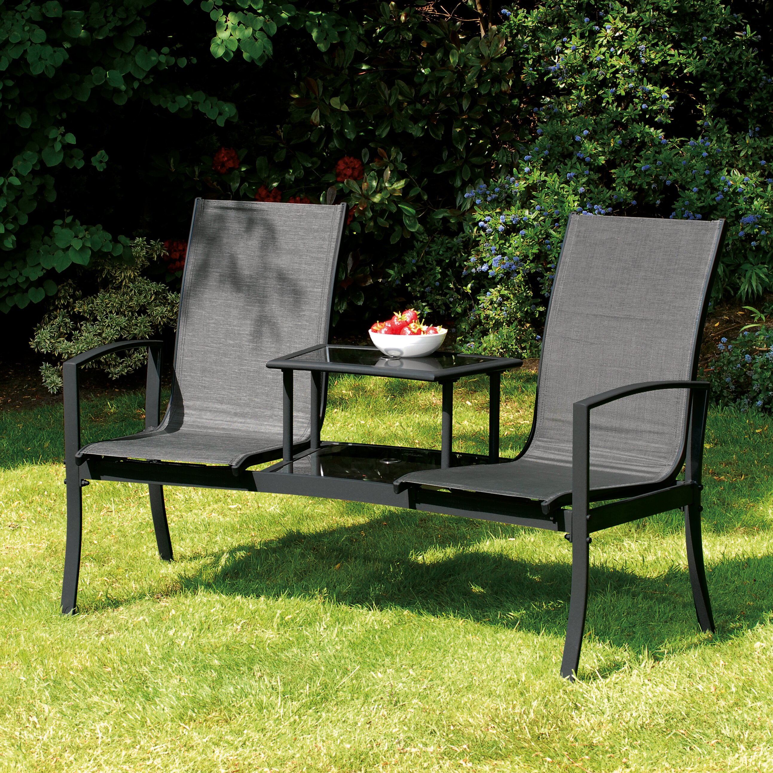 SunTime Outdoor Living Havana Steel Tete-a-Tete Bench ... on Suntime Outdoor Living id=45613