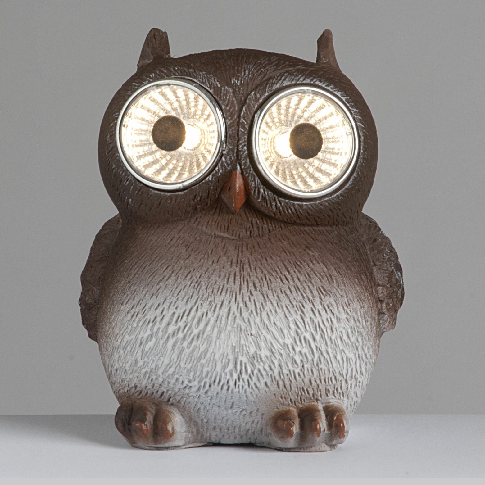 SunTime Outdoor Living Owls With Solar Eyes Garden Décor