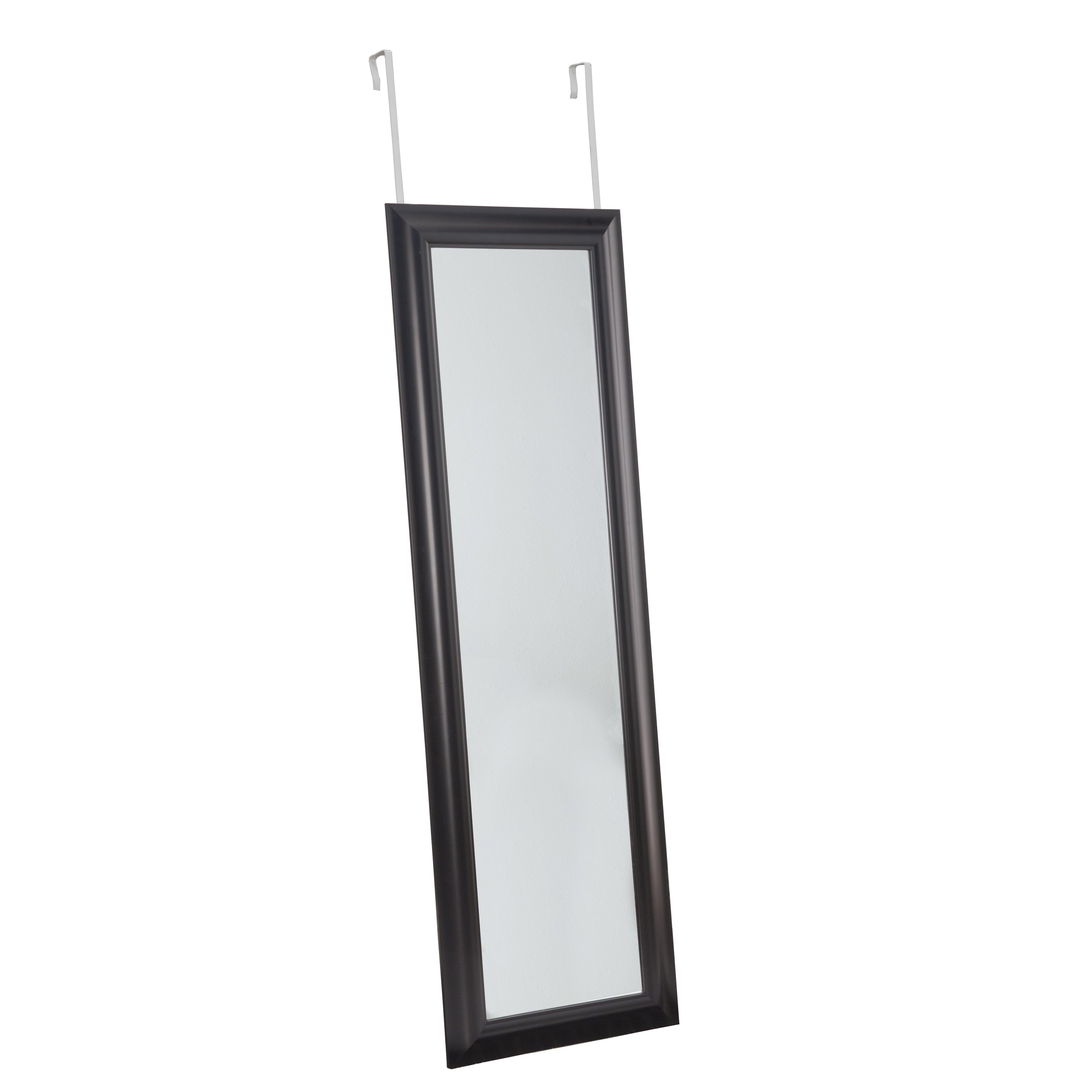 sandberg furniture deluxe over the door mirror reviews wayfair. Black Bedroom Furniture Sets. Home Design Ideas