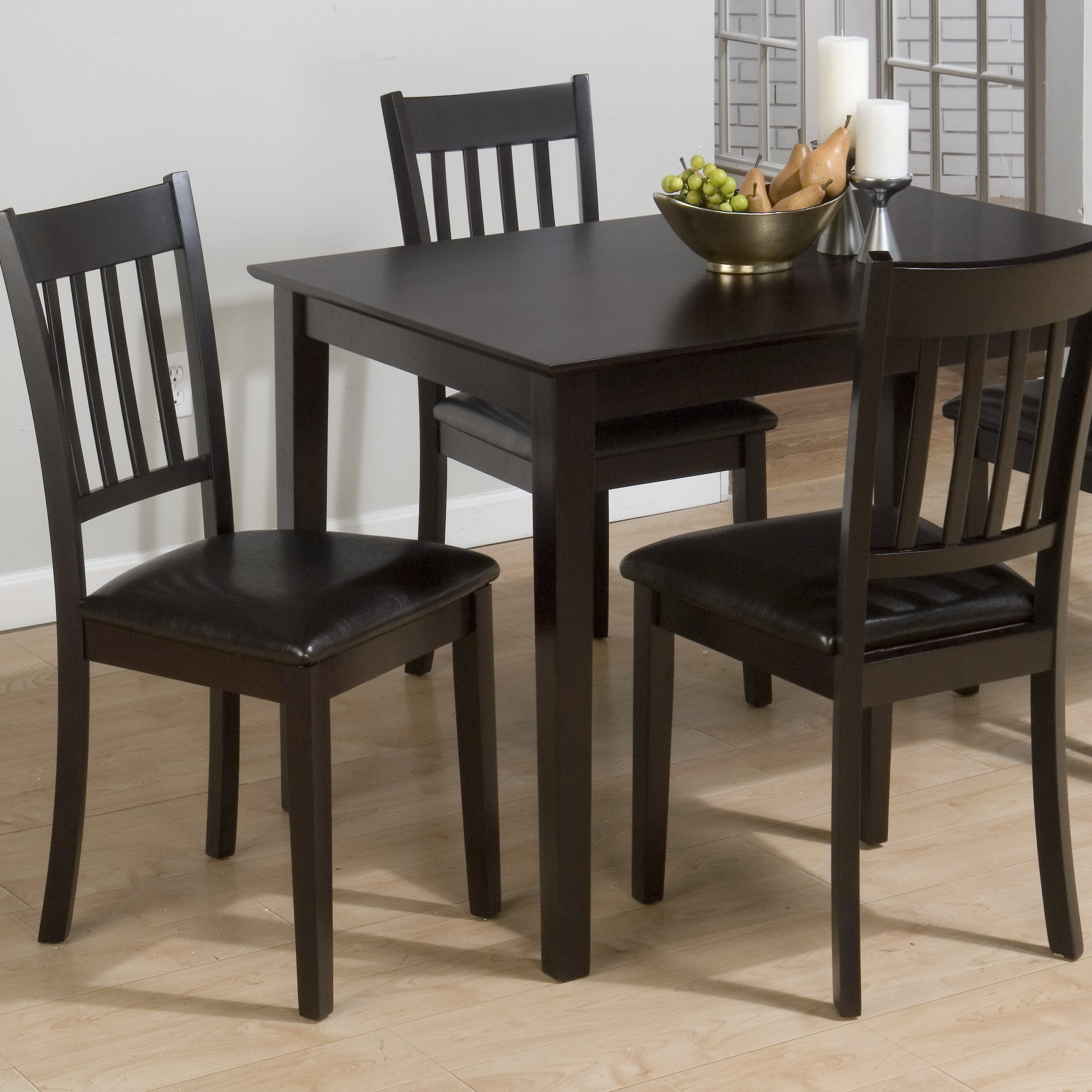 Country Dining Table Sets: Jofran Marin Country Merlot 5 Piece Dining Table Set