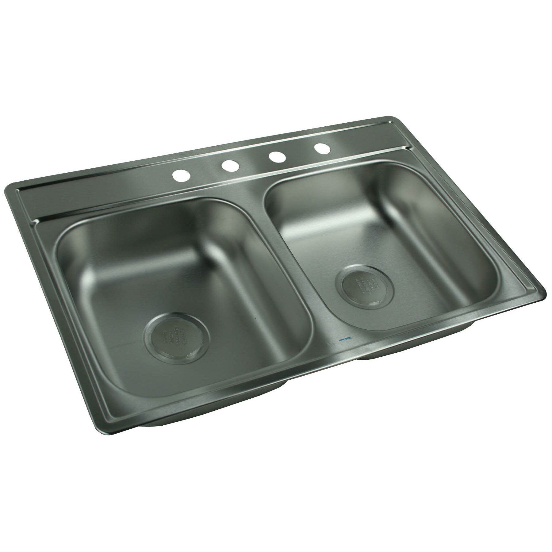 Franke kindred 33 x 22 4 hole double bowl kitchen sink reviews wayfair - Kindred undermount kitchen sinks ...
