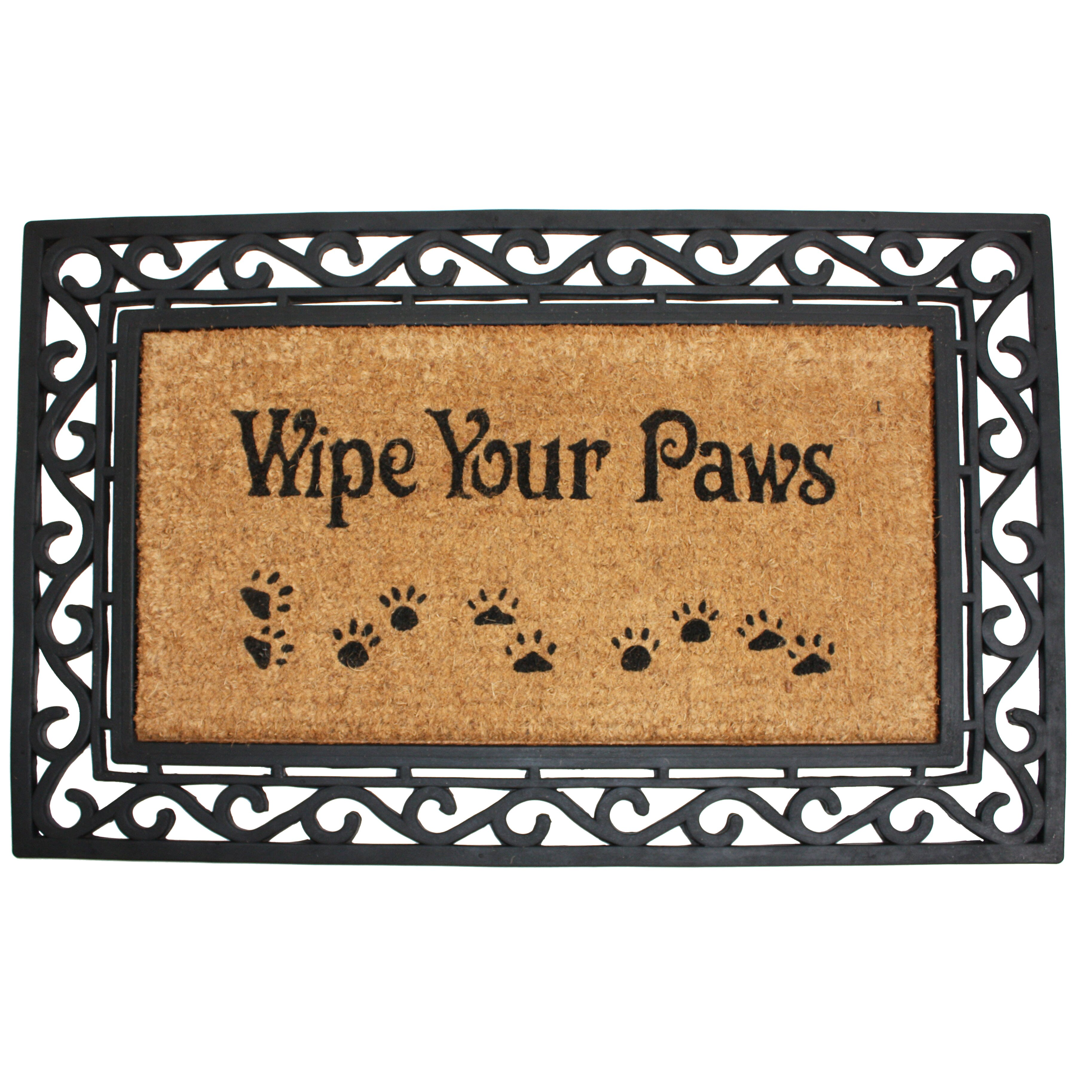 J Amp M Home Fashions Wipe Your Paws Doormat Amp Reviews Wayfair