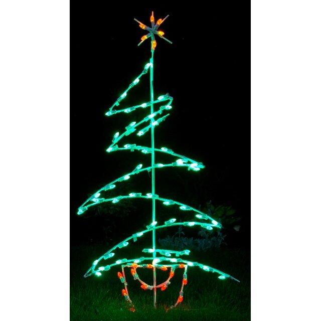 Queens Of Christmas Zig Zag Tree LED Light Christmas