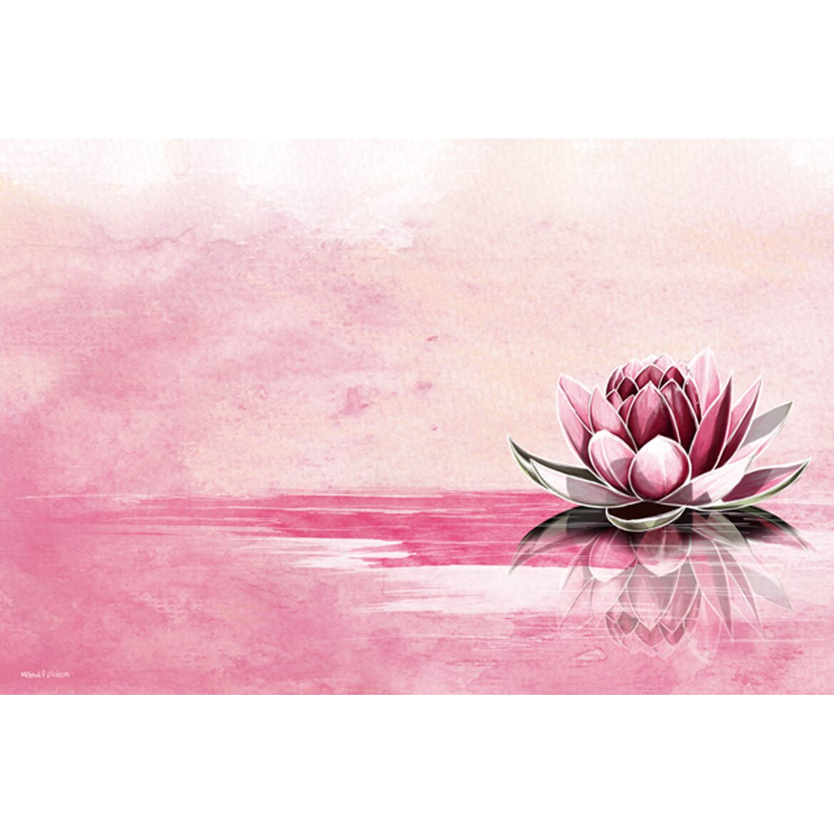 Pink Bedroom Decor Maxwell Dickson Quot Pink Lotus Quot Graphic Art On Canvas Wayfair