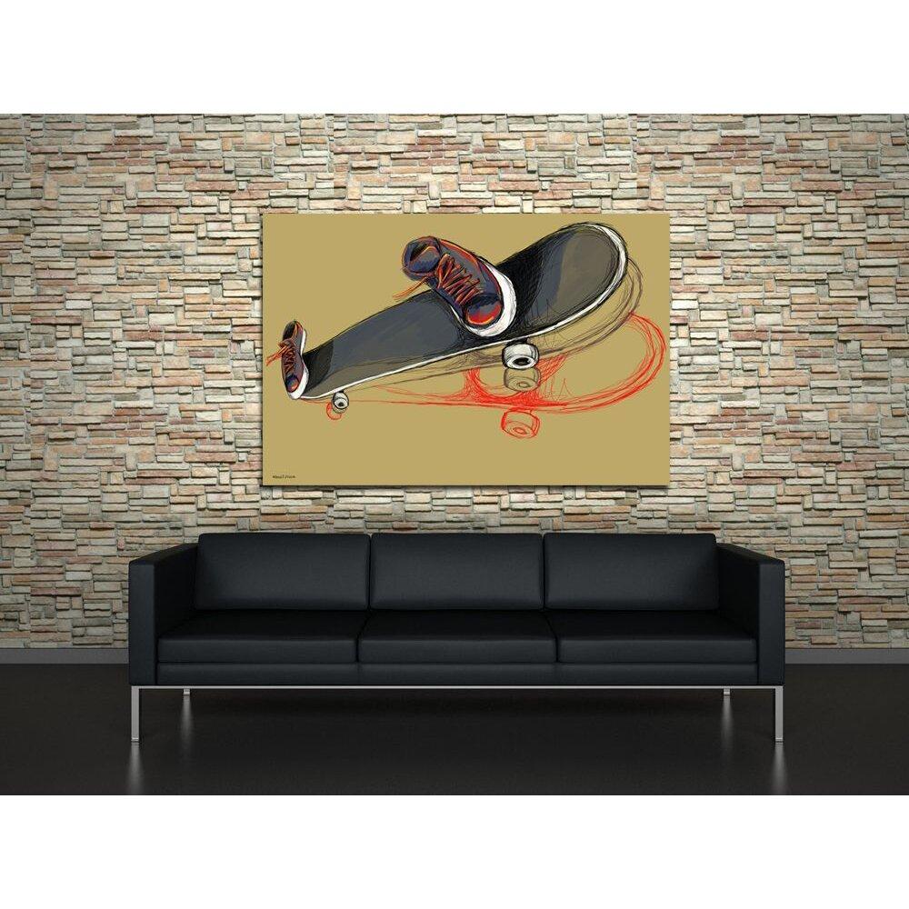 Maxwell Dickson Skater Skateboard Painting Print On