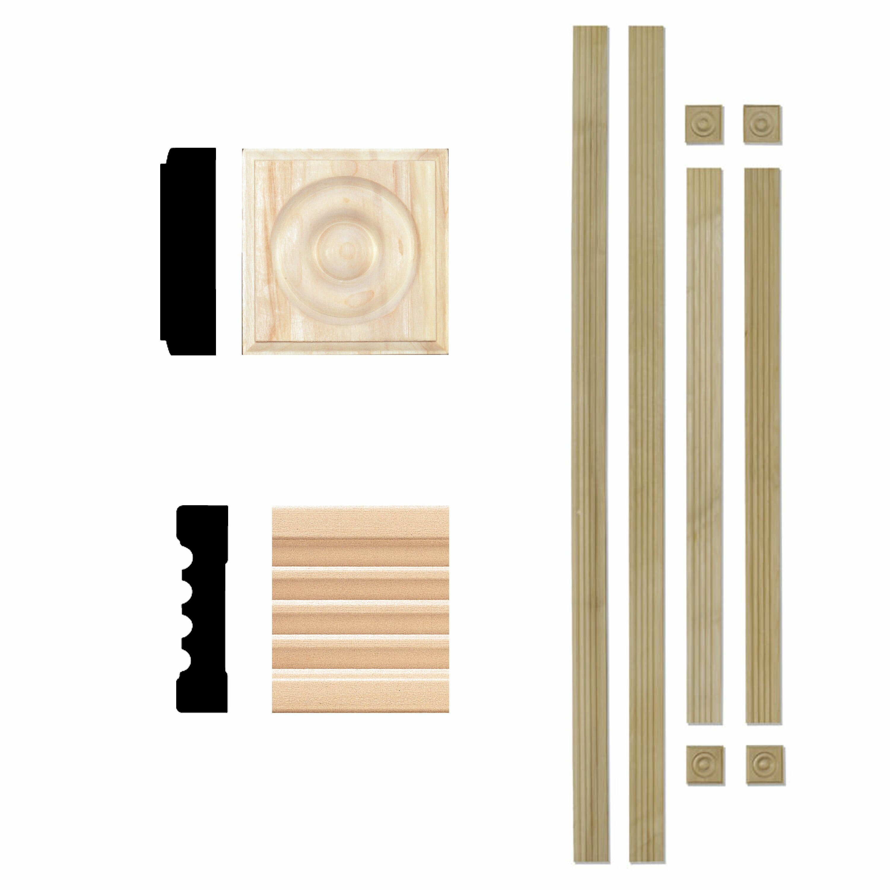 Fluted Trim Boards ~ Manor house in hardwood fluted window trim