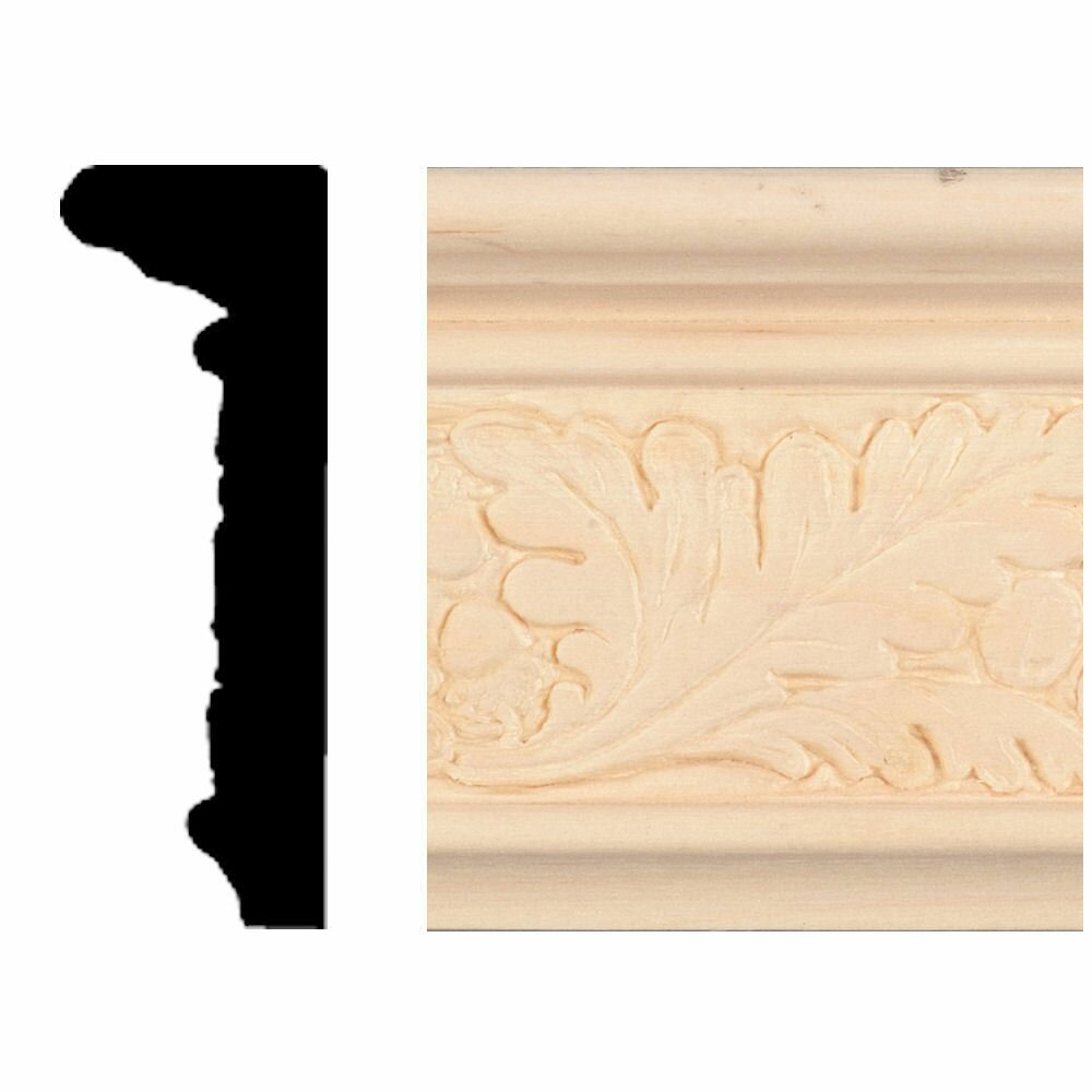 Manor House 7/8 In. X 2-1/2 In. X 8 Ft. Hardwood Emboss