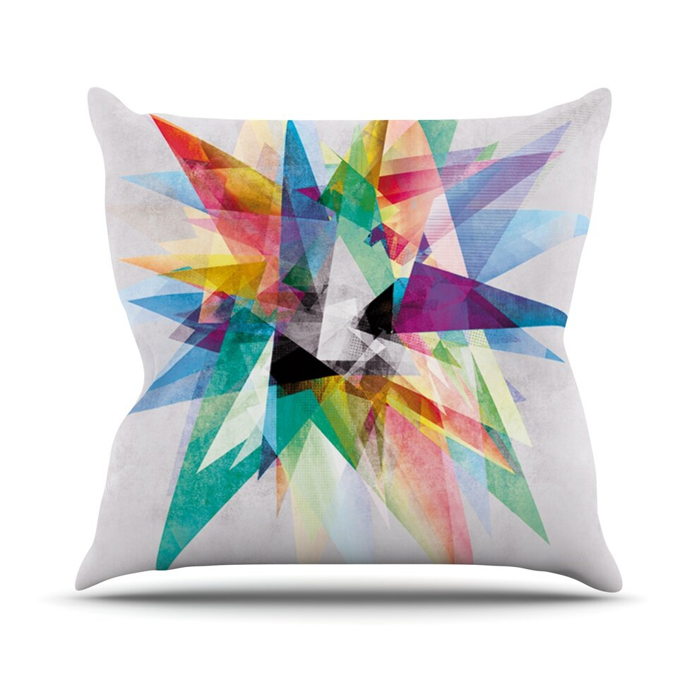 KESS InHouse Colorful Rainbow Abstract Outdoor Throw Pillow & Reviews Wayfair