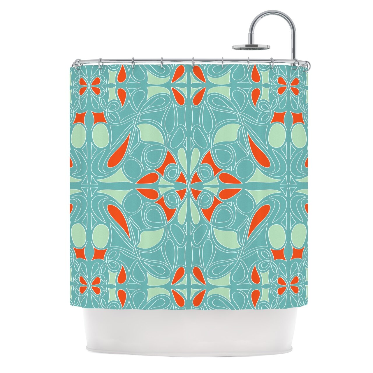 Blue ruffled shower curtains - Country Ruffled Shower Curtains Light Turquoise Shower Curtain Country Ruffled Shower Curtain Kess Inhouse Seafoam