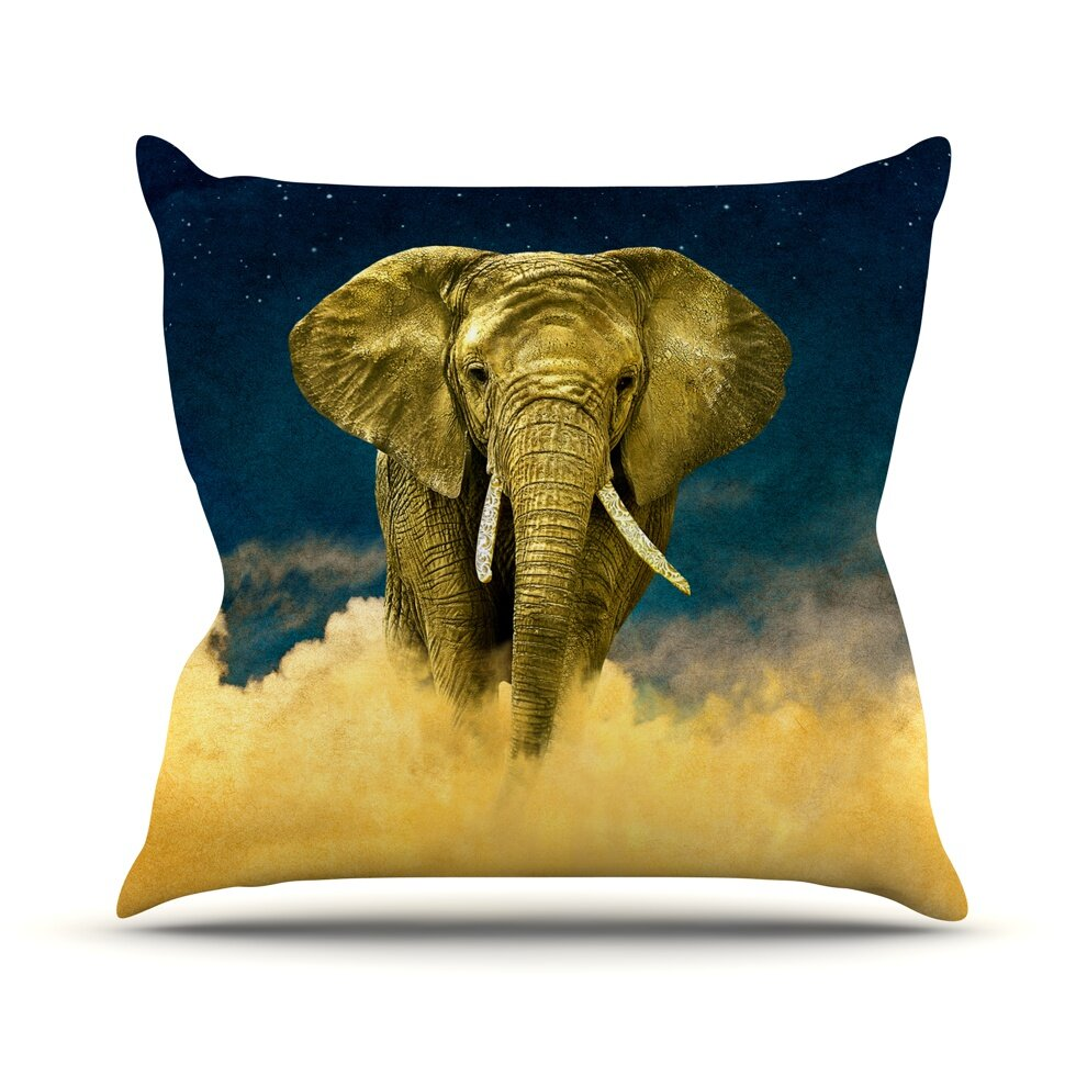 KESS InHouse Celestial Elephant Throw Pillow & Reviews Wayfair