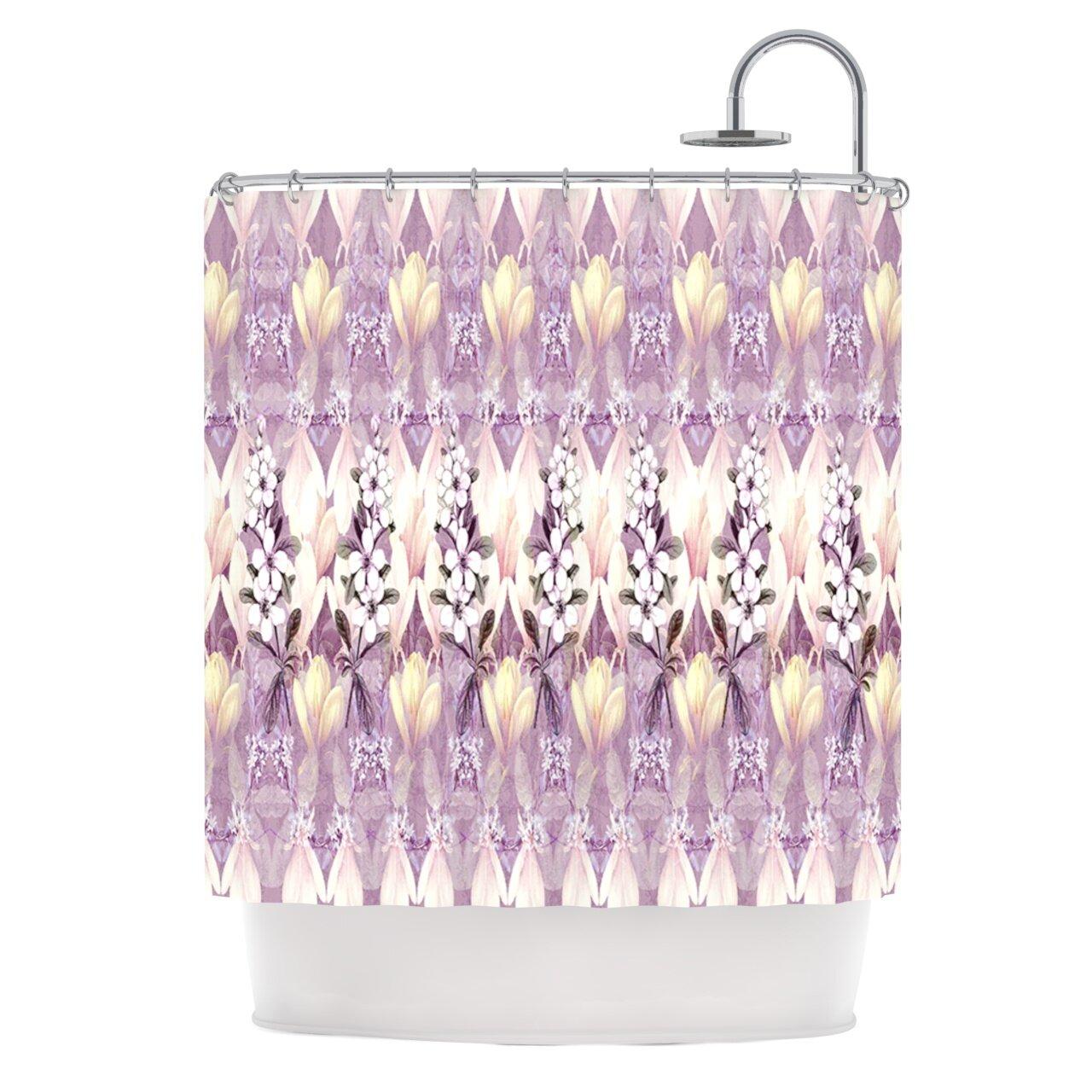 KESS InHouse Laurel85 Polyester Shower Curtain
