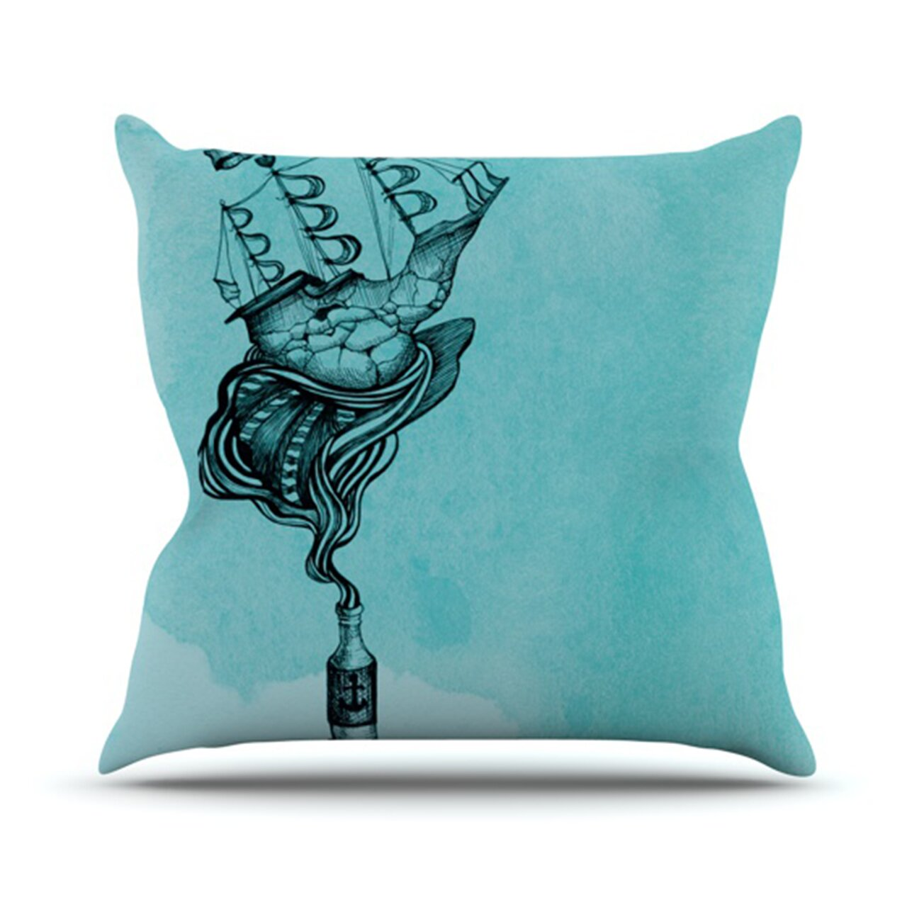 Wayfair Teal Throw Pillows : KESS InHouse All Aboard Throw Pillow Wayfair
