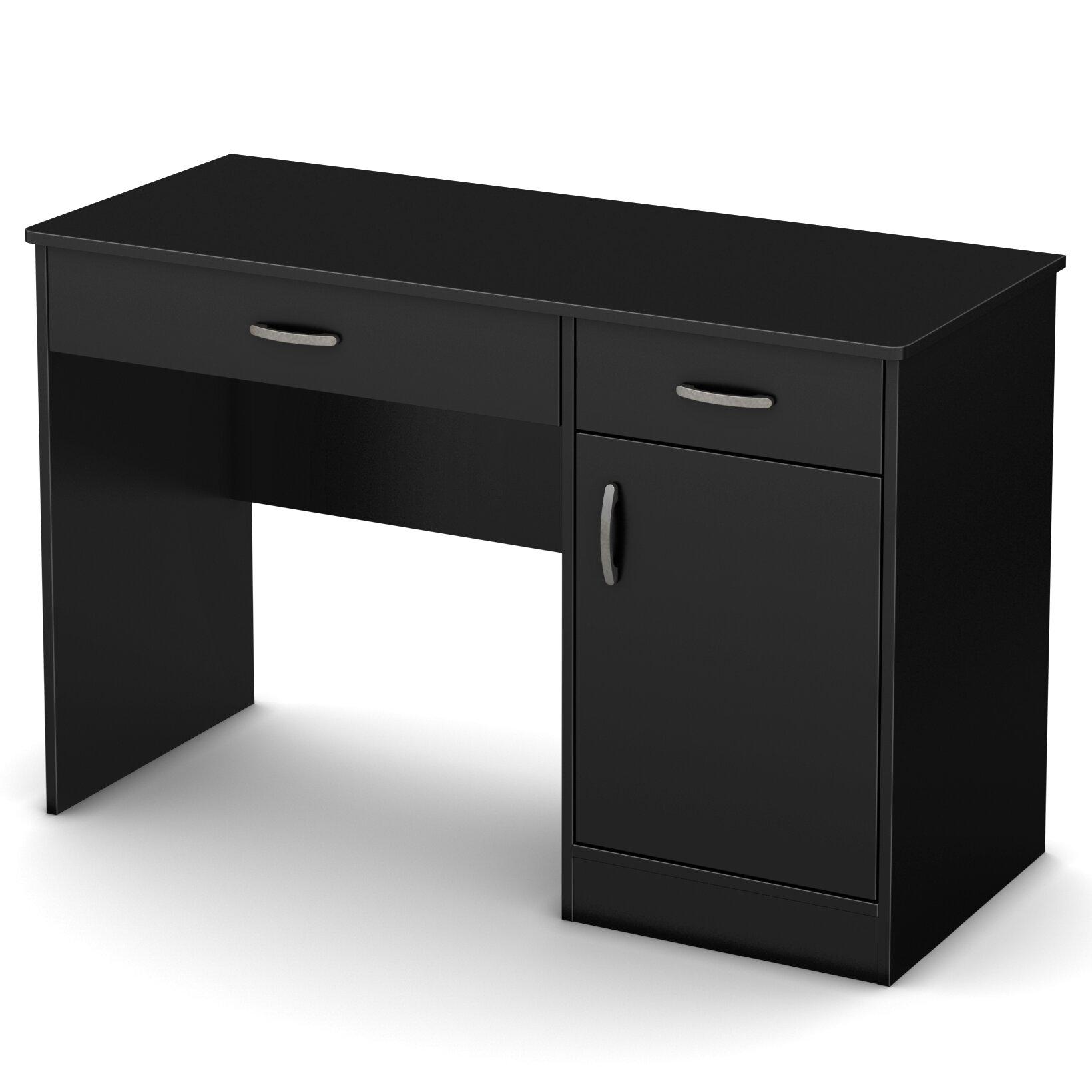 South shore axess computer desk reviews wayfair Small steel desk