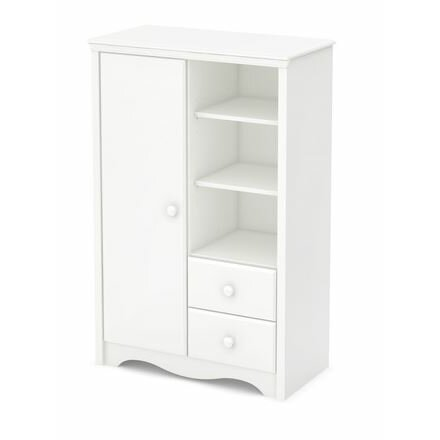south shore heavenly changing table and armoire with