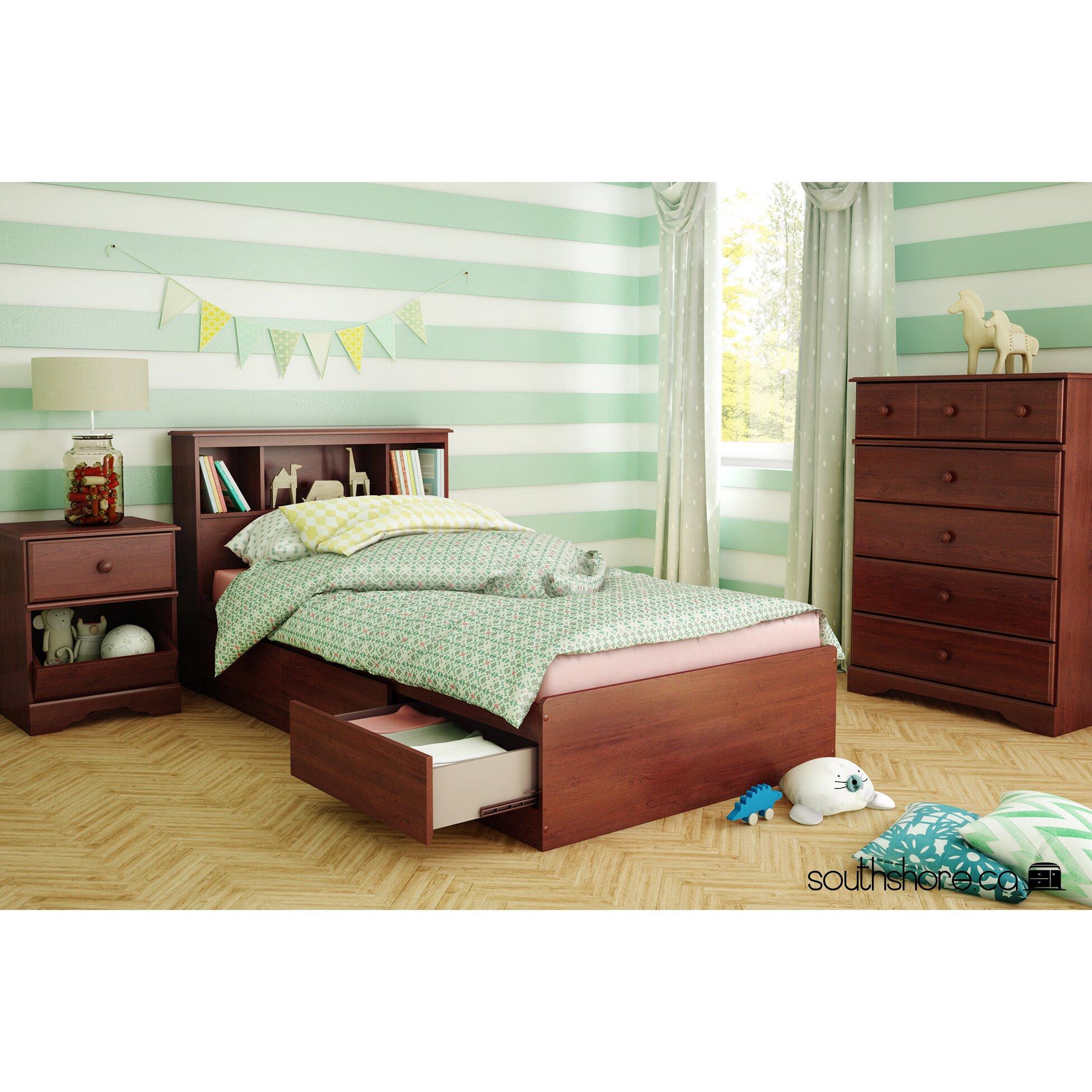 south shore treasures platform customizable bedroom