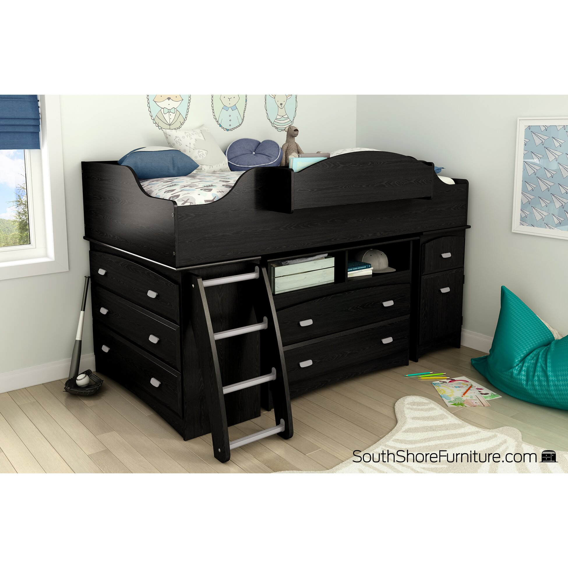 Bedroom Furniture Loft Kids Bedroom Sets South Shore SKU TH4049
