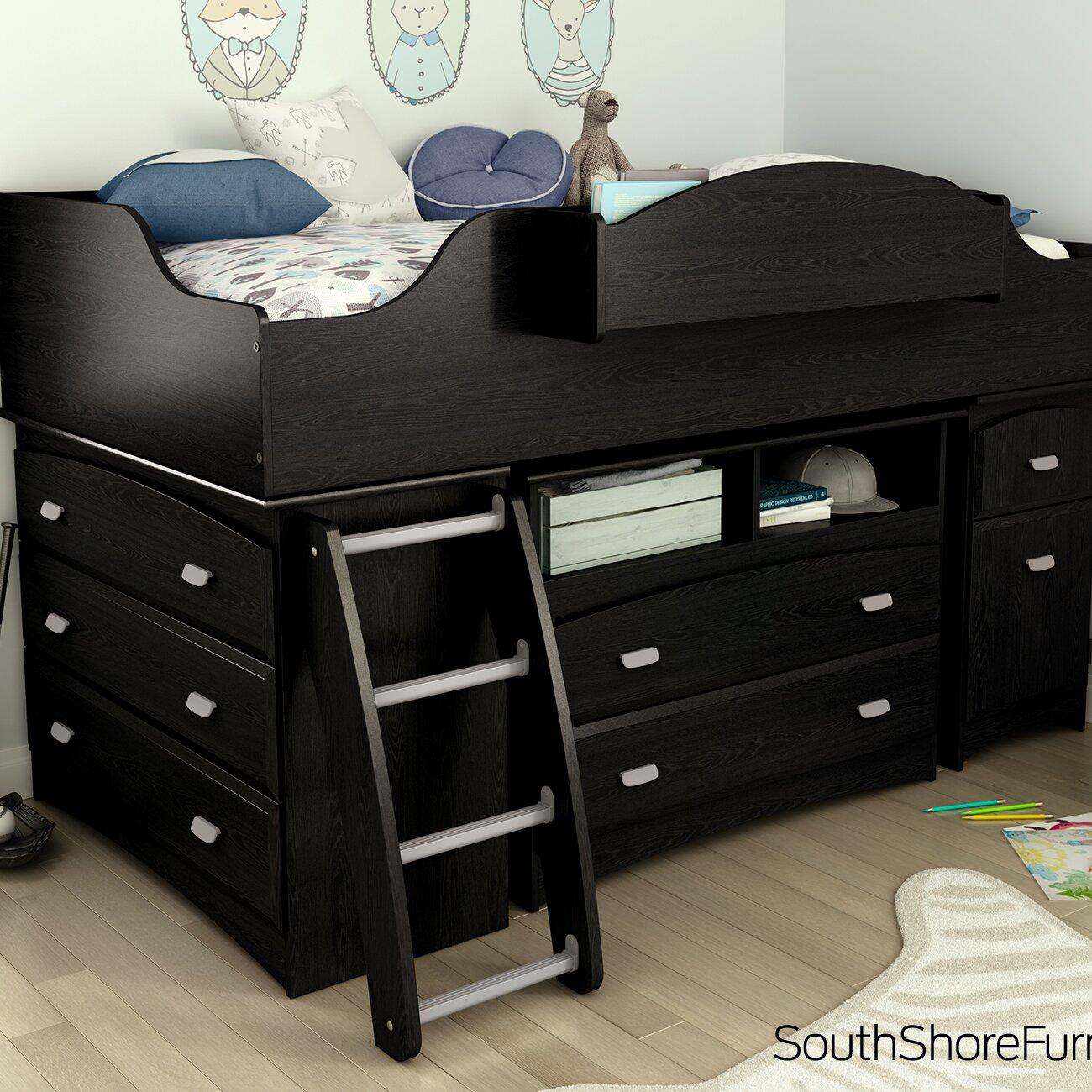 South Shore Imagine Twin Loft Bed Customizable Bedroom Set