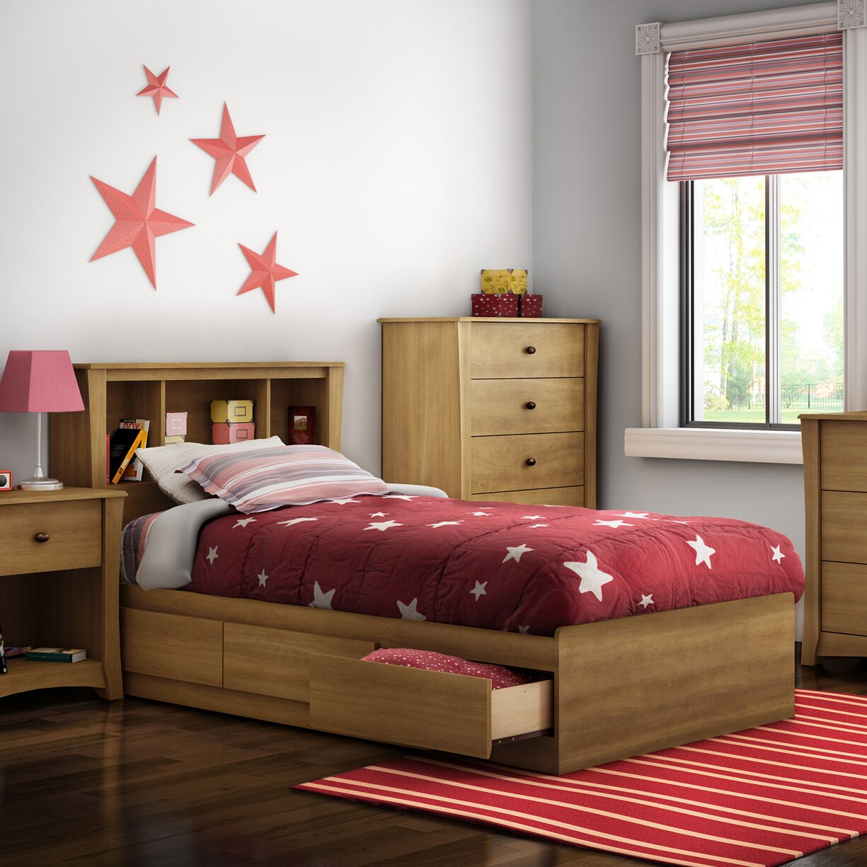 south shore jumper twin platform customizable bedroom set reviews wayfair. Black Bedroom Furniture Sets. Home Design Ideas