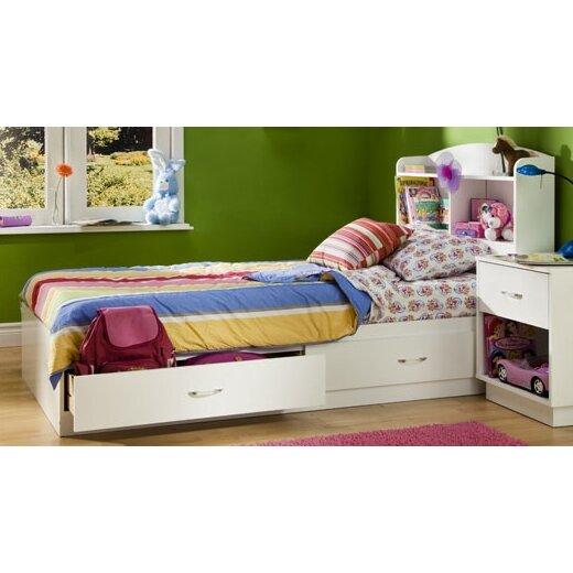 South Shore Logik Twin Platform Customizable Bedroom Set