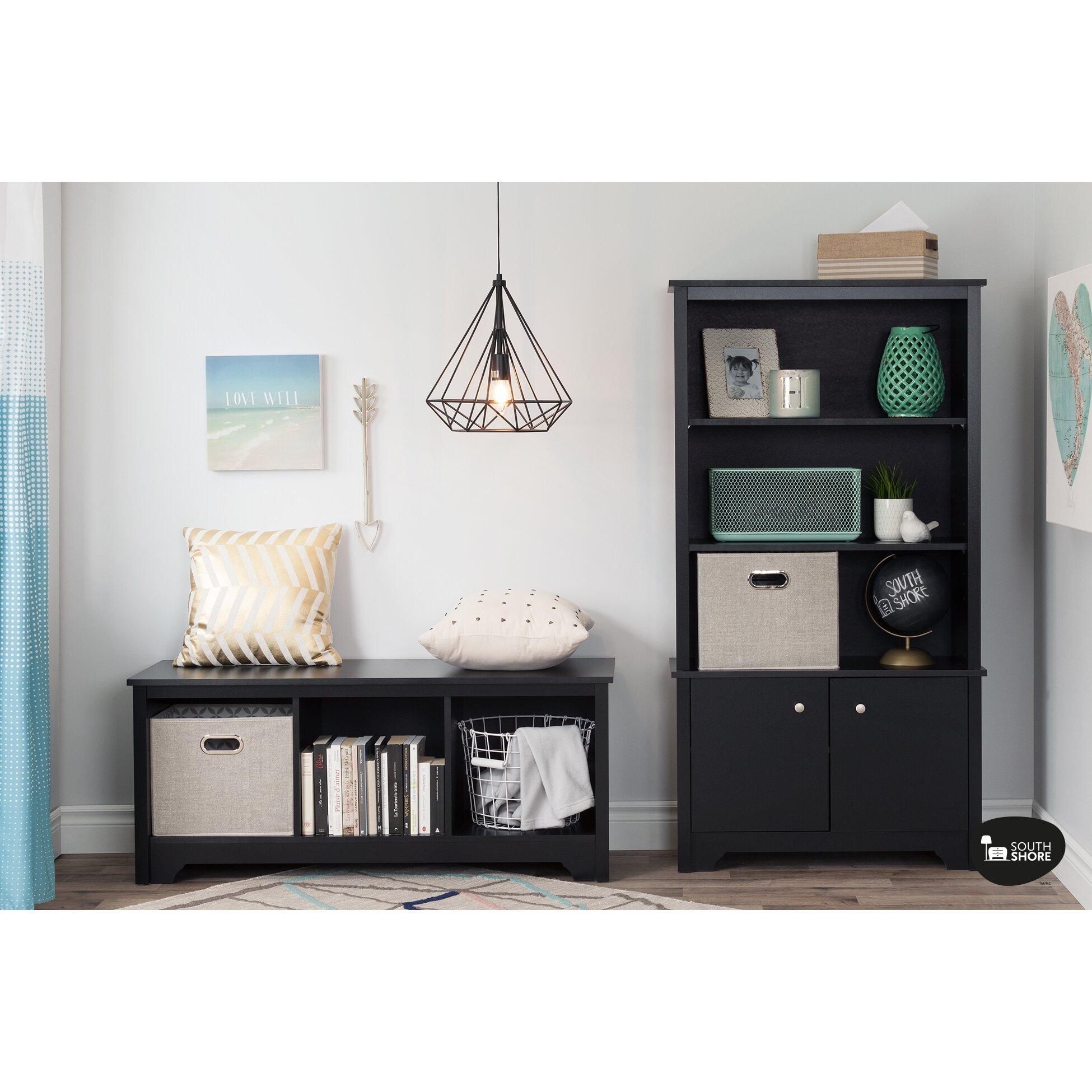 Foyer Mudroom Review : South shore vito particle board storage entryway bench