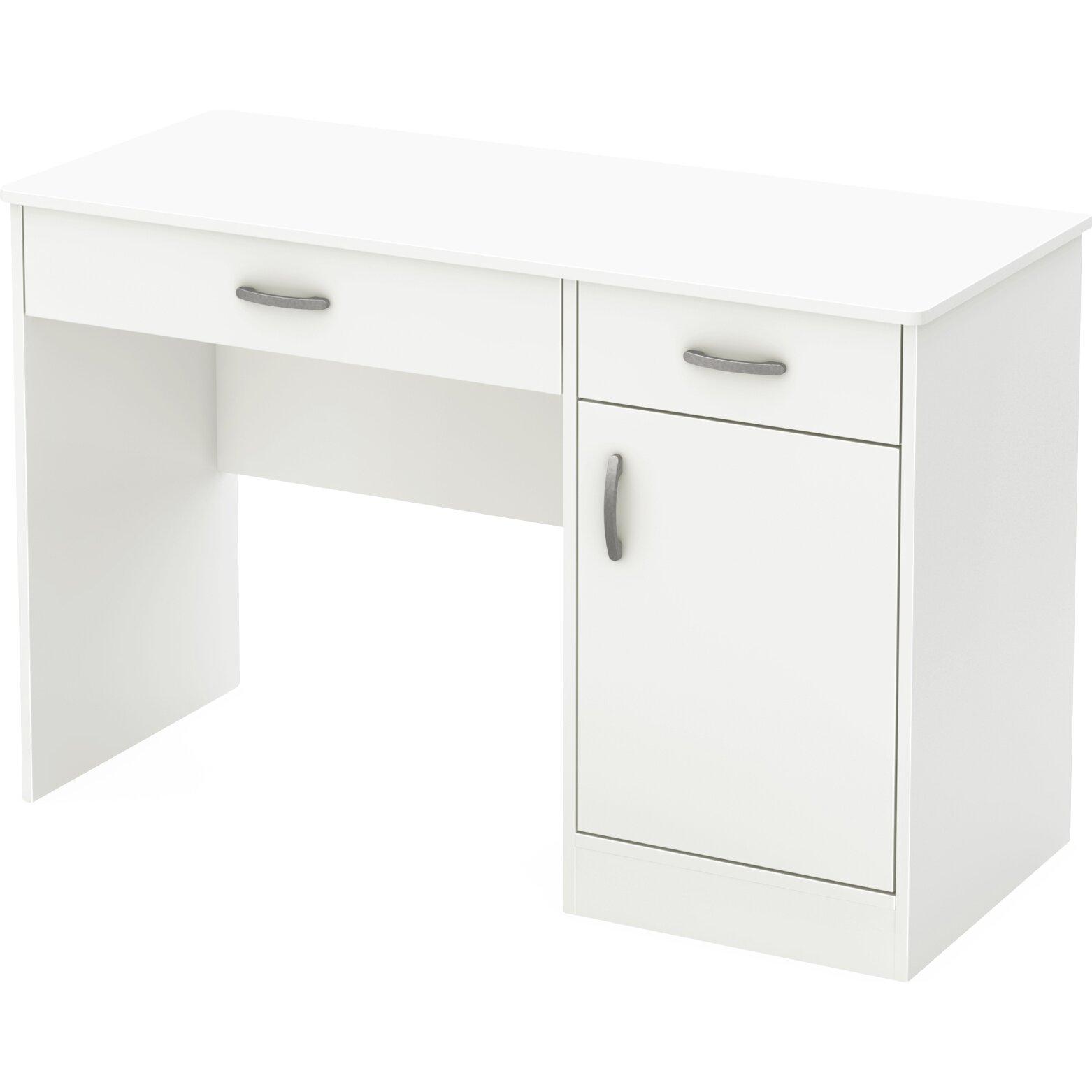 South shore axess computer desk reviews wayfair - Bureau de travail blanc ...